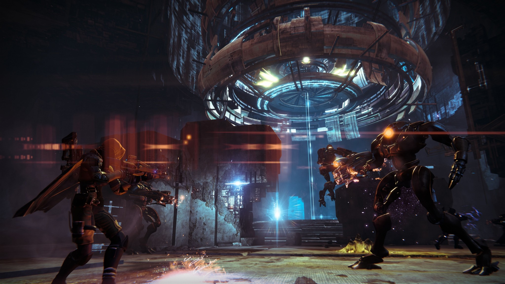 Preview wallpaper destiny, heroes, enmity, shot 2048×1152