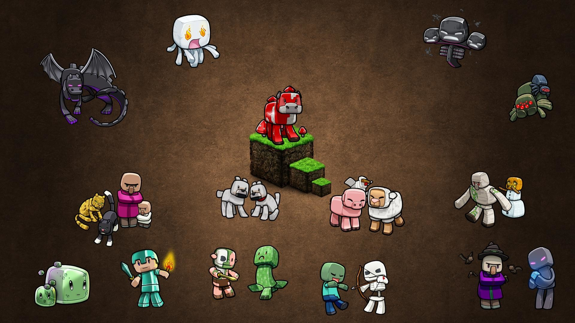 Minecraft Mobs Wallpaper Free