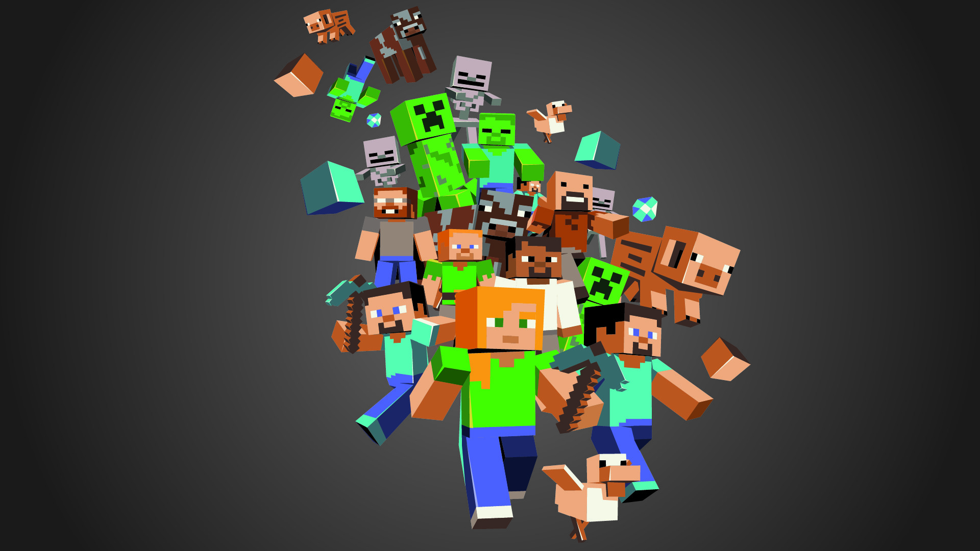 Minecraft Mobs Wallpapers Free with High Definition Wallpaper Resolution