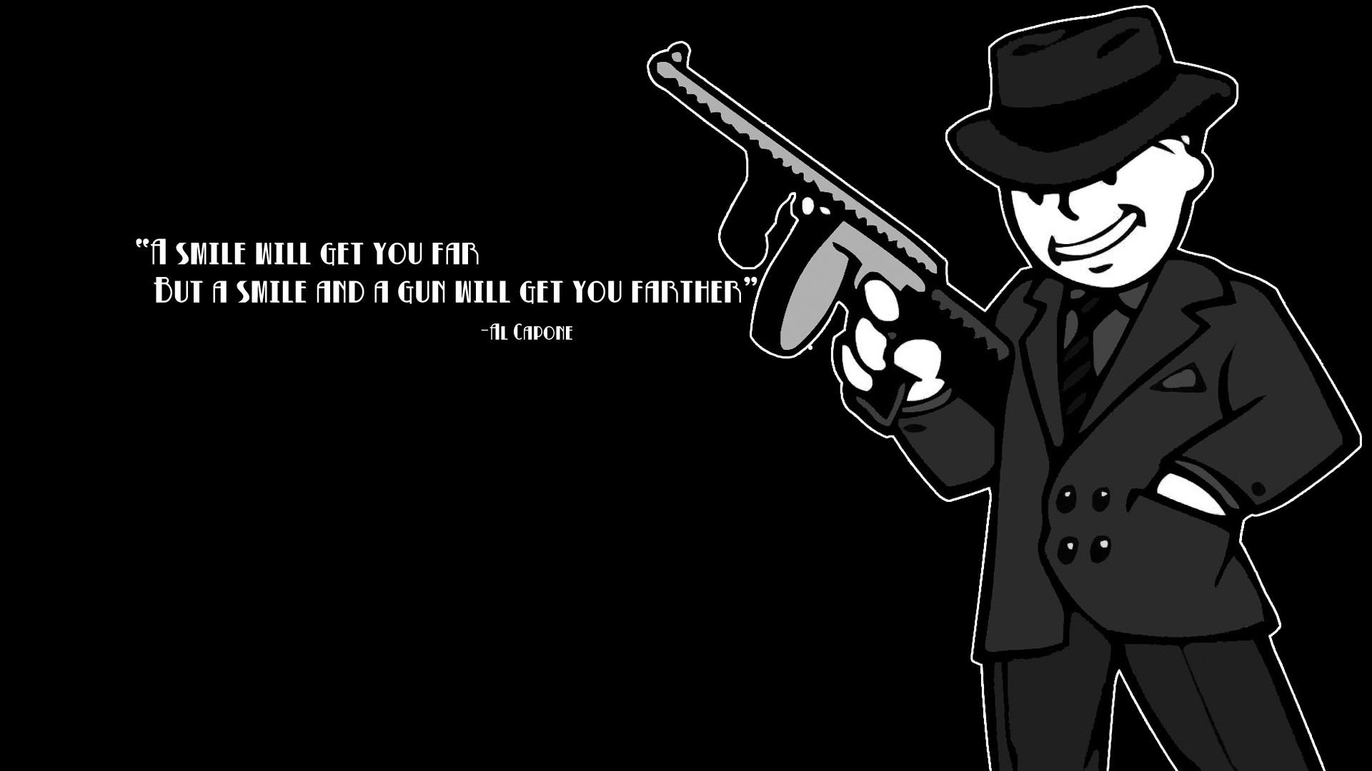 FALLOUT weapon gun text quote dark wallpaper     153216    WallpaperUP