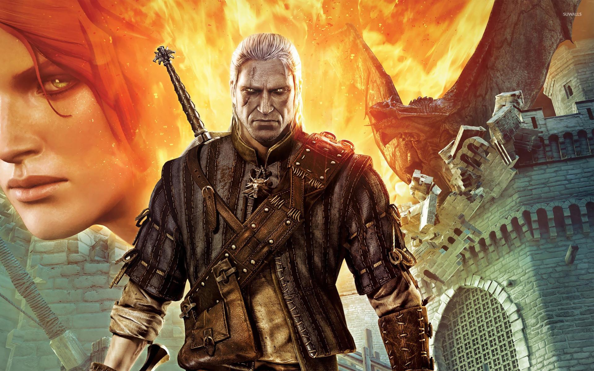 Triss Merigold and Geralt – The Witcher 2 wallpaper jpg