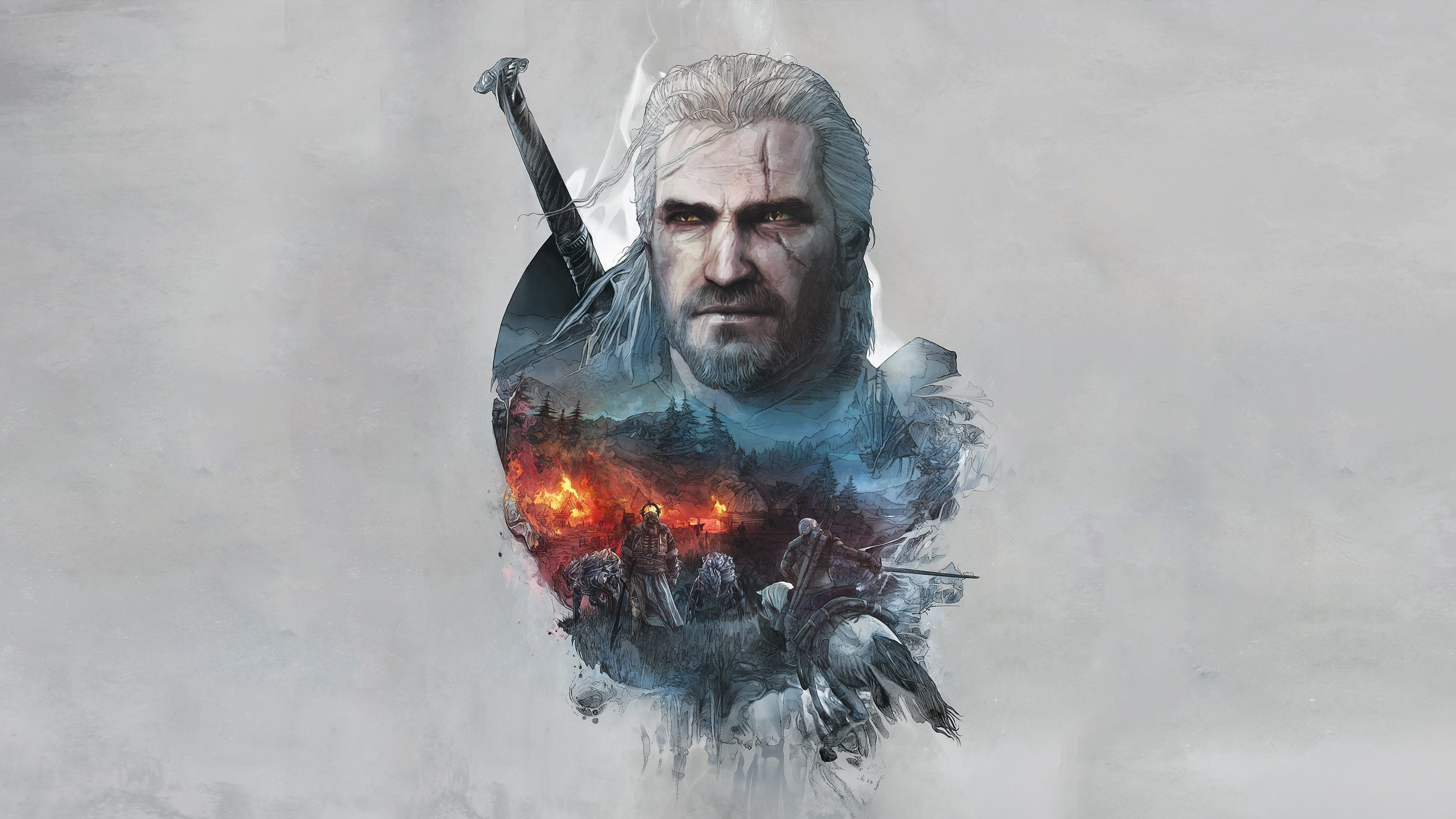 78 Witcher 3 art pieces, all at least 1920×1080, many much more than that :  witcher
