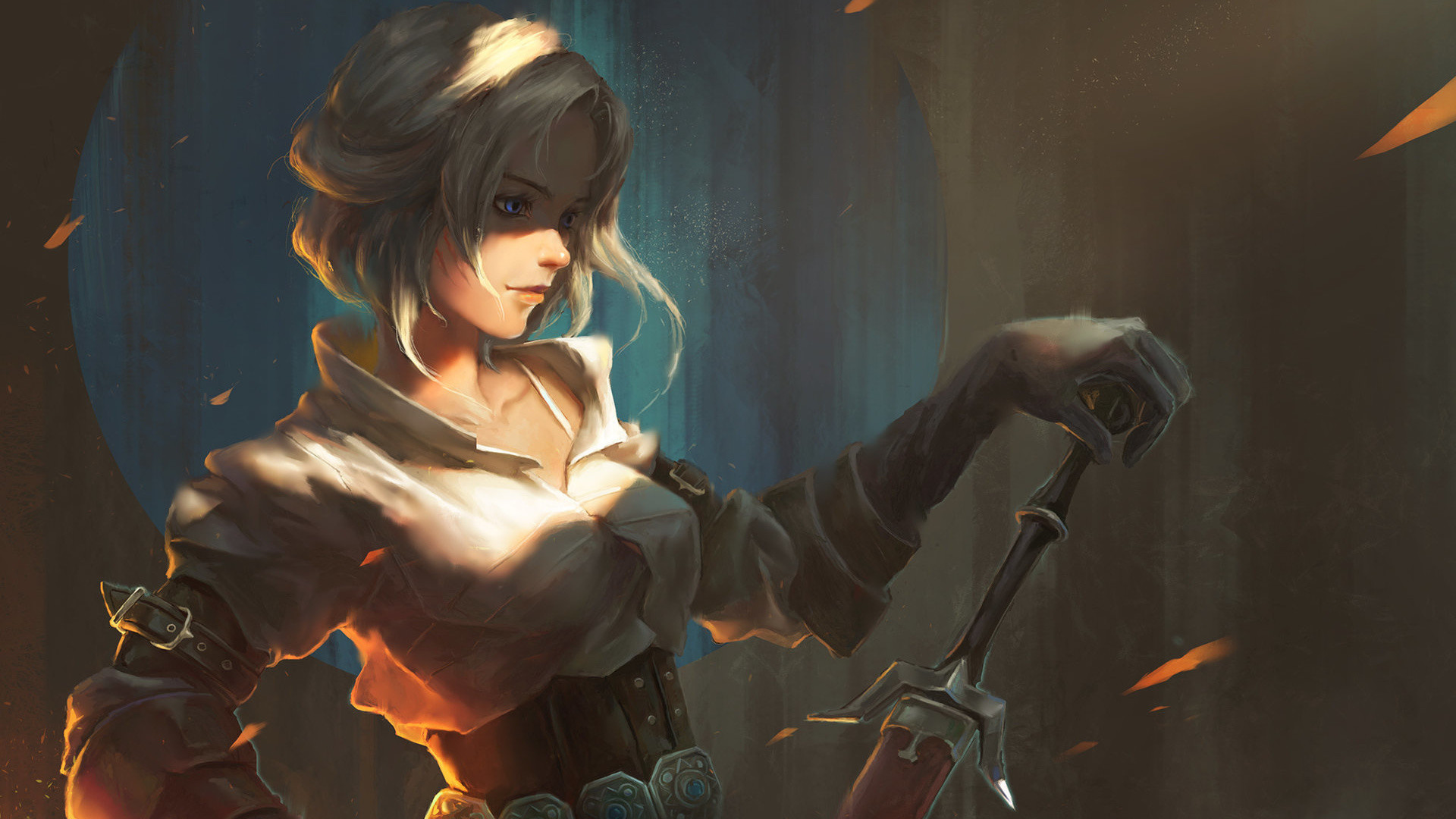 the witcher 3 ciri painted sword