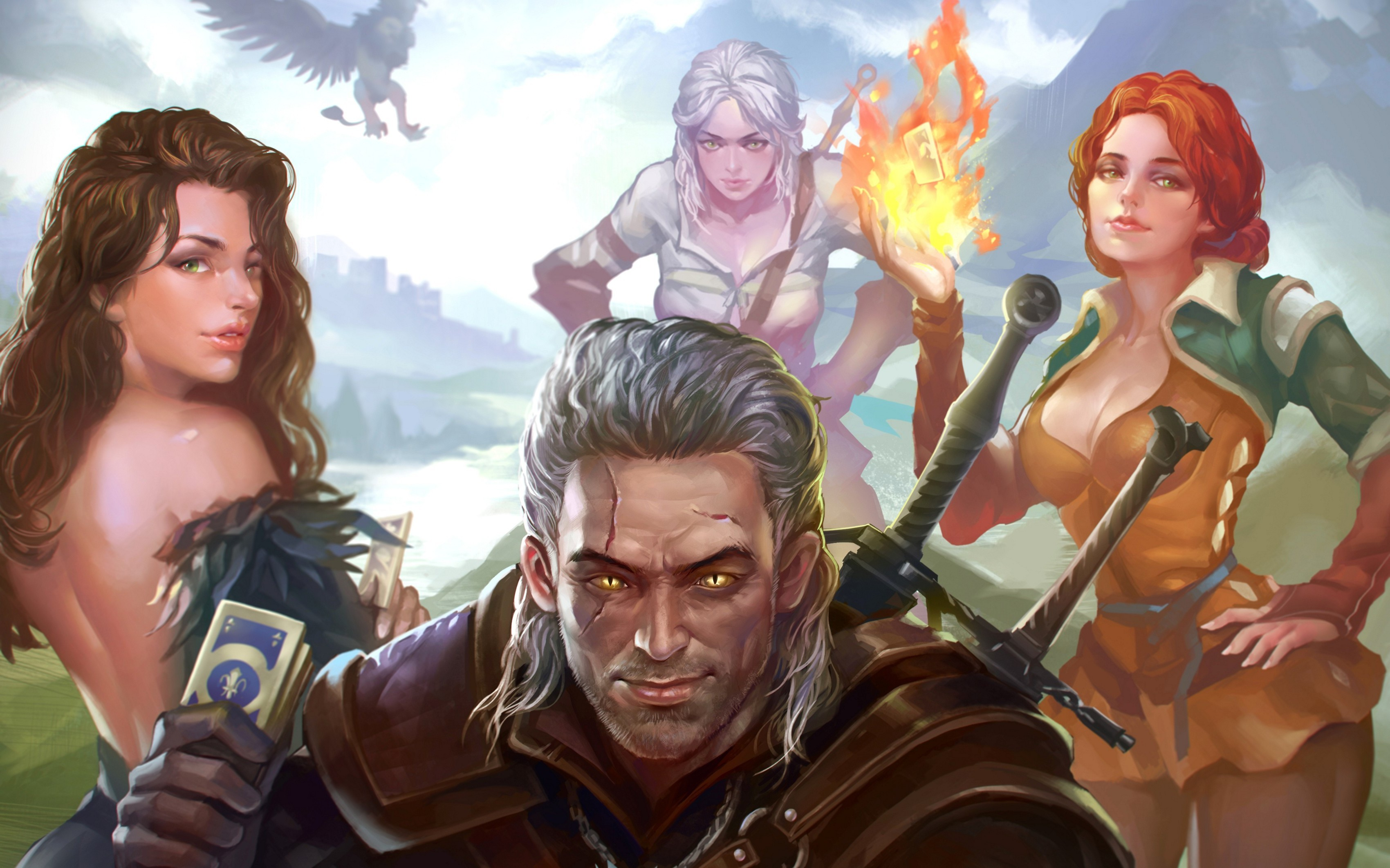 artwork, The Witcher 3: Wild Hunt, Video Games, Ciri, Triss Merigold,  Derpy, The Witcher, Yennefer Of Vengerberg Wallpapers HD / Desktop and  Mobile …