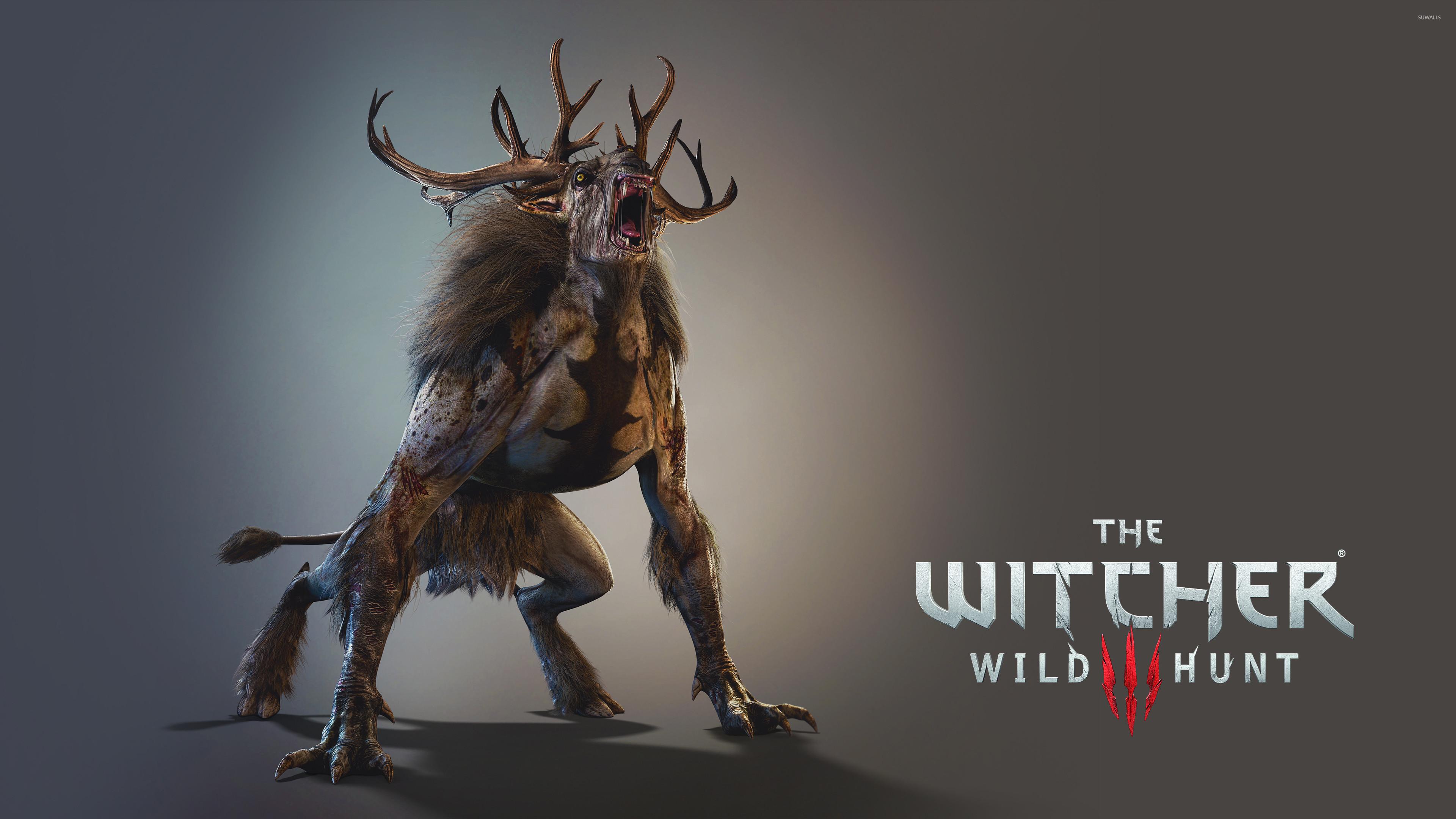 Fiend roaring – The Witcher 3: Wild Hunt wallpaper jpg