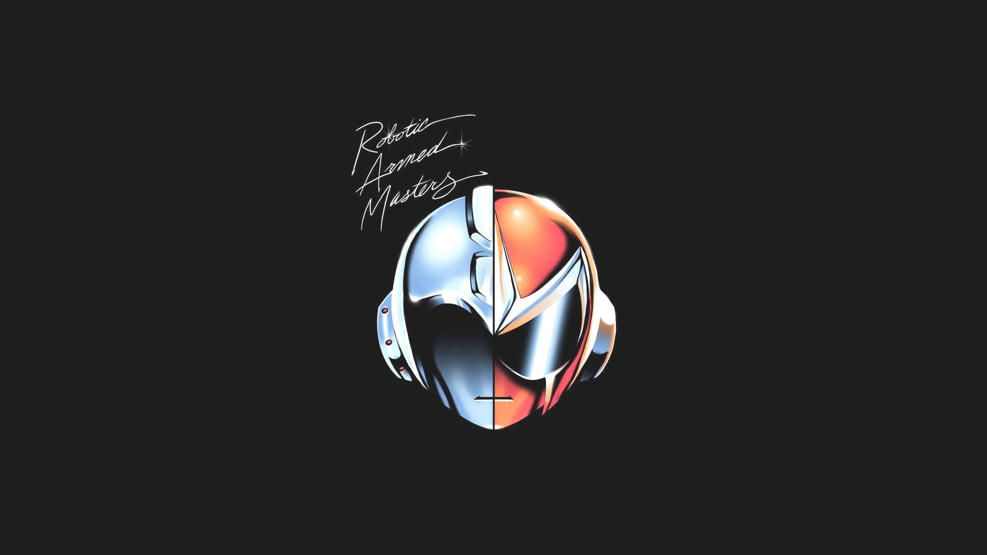 #Daft Punk, #minimalism, #Mega Man, #Proto Man | Wallpaper .