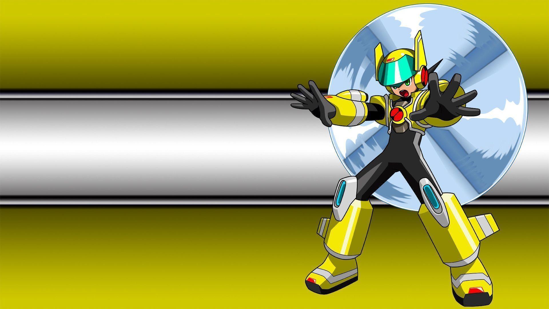 HD Battle Network – Mega Man In Air Suit Wallpaper | Download Free .