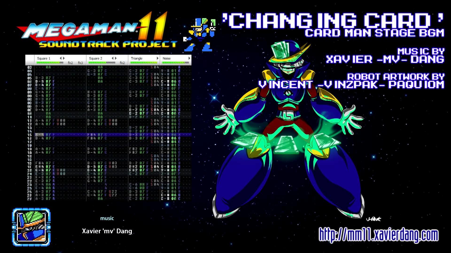 CHANGING CARD (CARD MAN STAGE) — MEGA MAN 11 soundtrack project