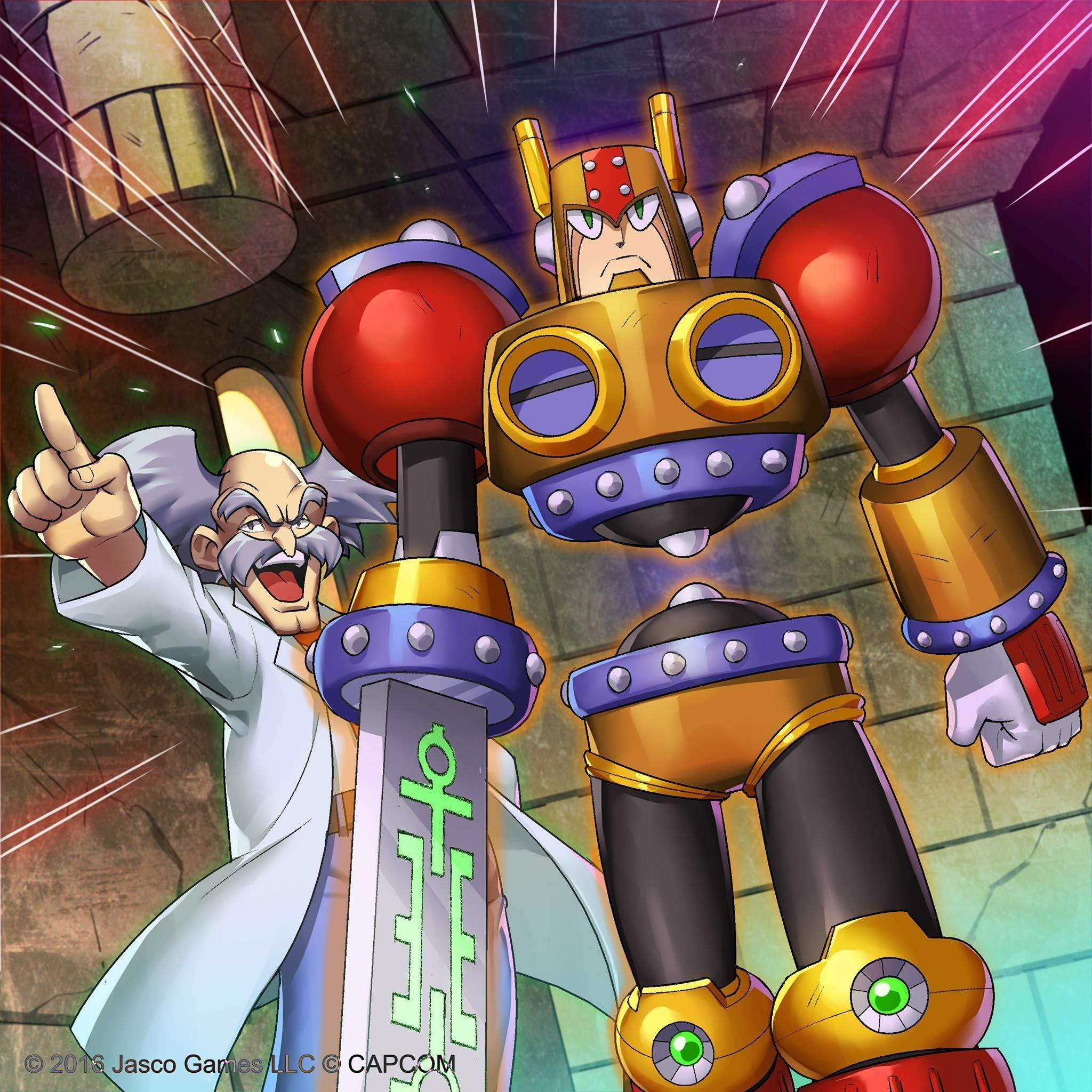 Dr. Wily and Sword Man