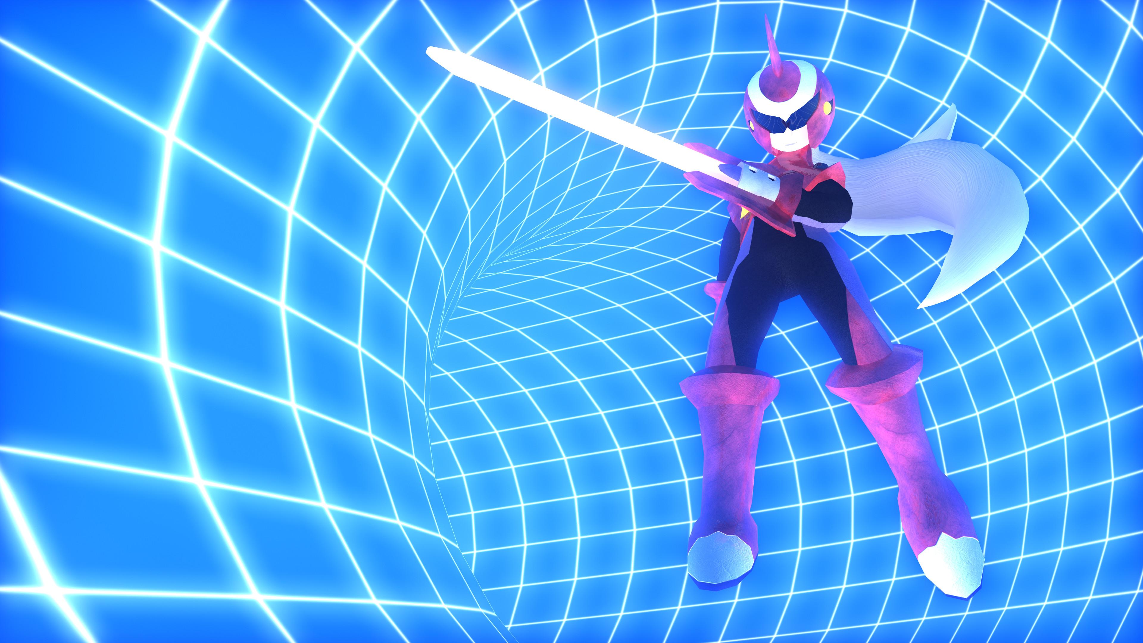 … Mega Man – Protoman.EXE 3D Model Render #3 by Stef93