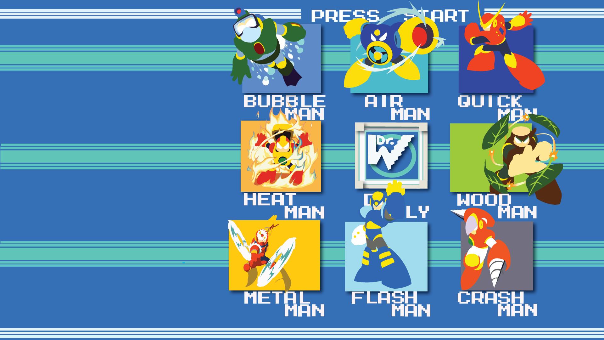 Mega Man II Stage Select Wallpaper (OC) [1920×1080] …