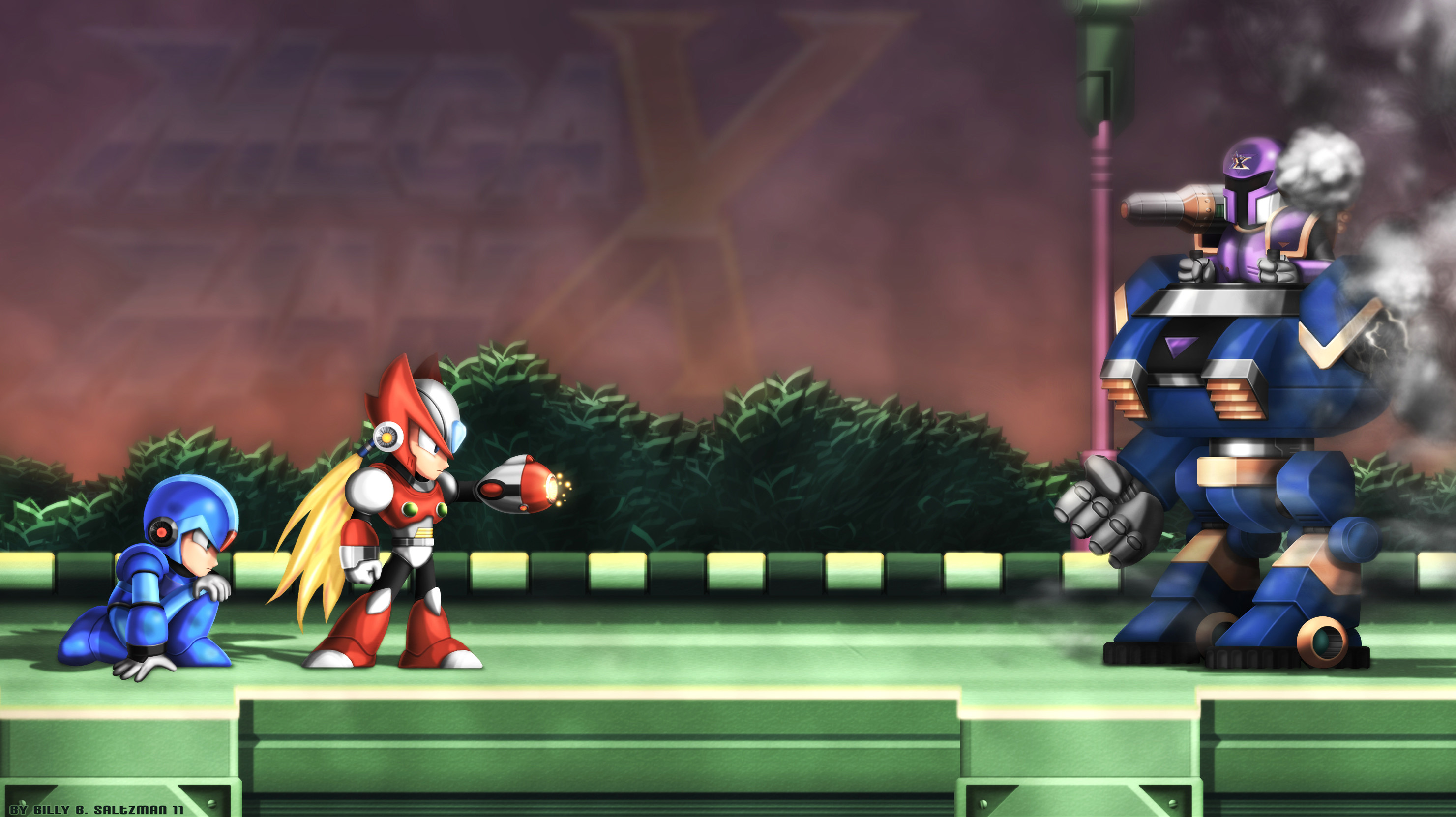 … Mega Man X1 Upclose with ZX by Billysan291