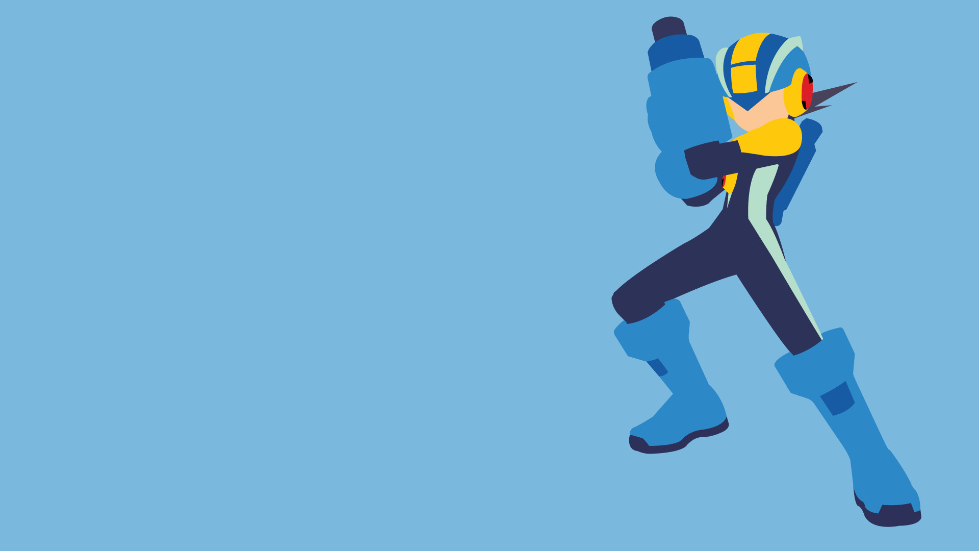 … Mega Man Battle Network – MegaMan.exe Wallpaper by LimeCatMastr