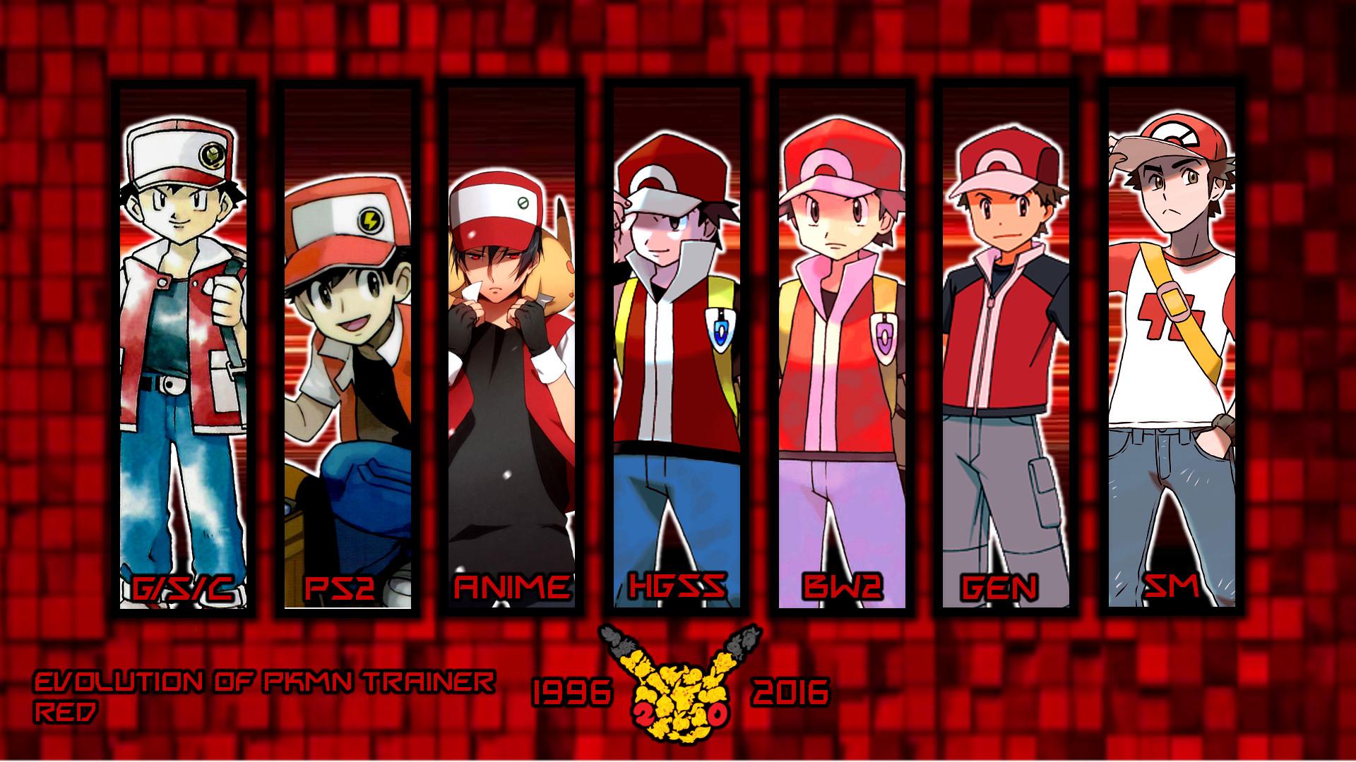 … Evolution Of Pkmn Trainer Red Wallpaper by MattPlaysVG