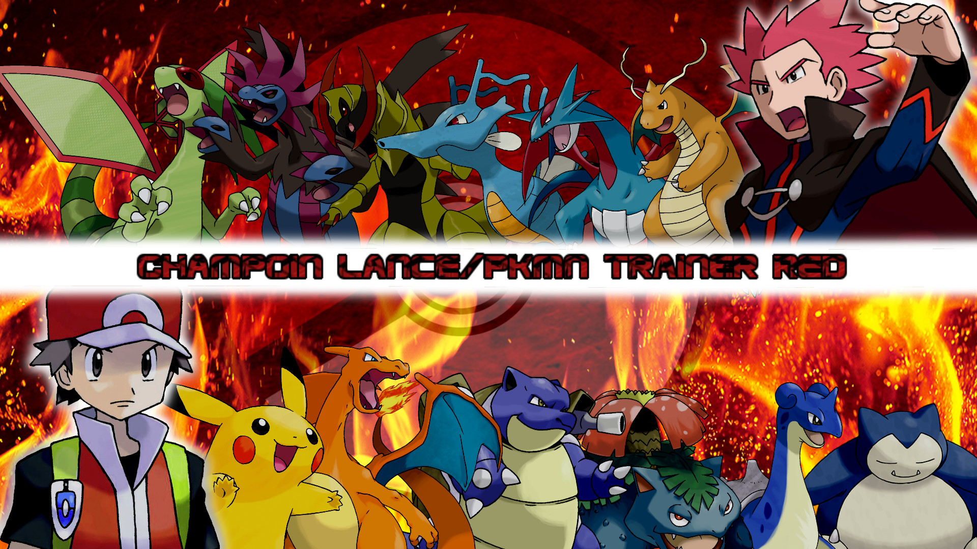 … Champion Lance and PKMN Trainer Red Wallpaper Post by MattPlaysVG