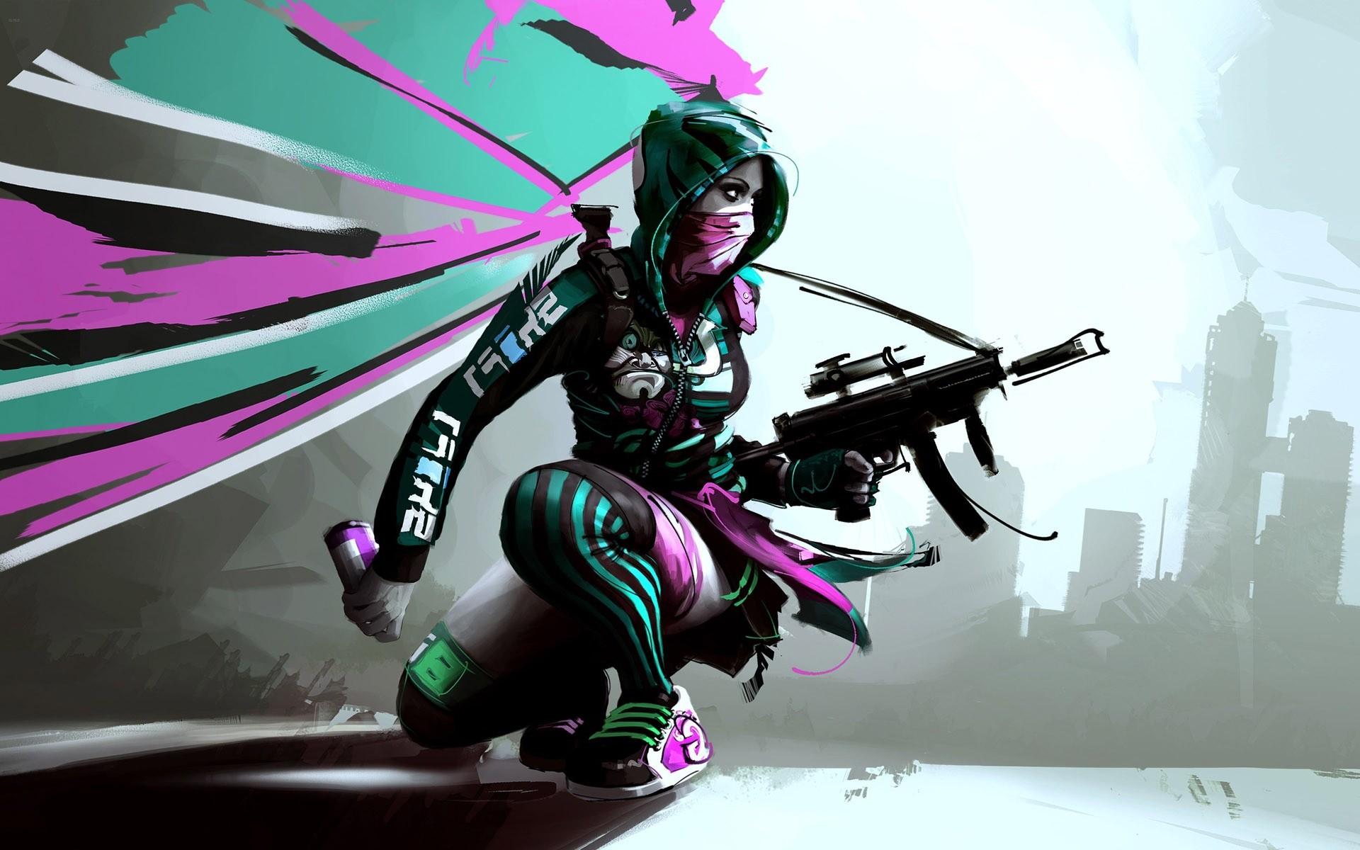 Game Girl Sketch