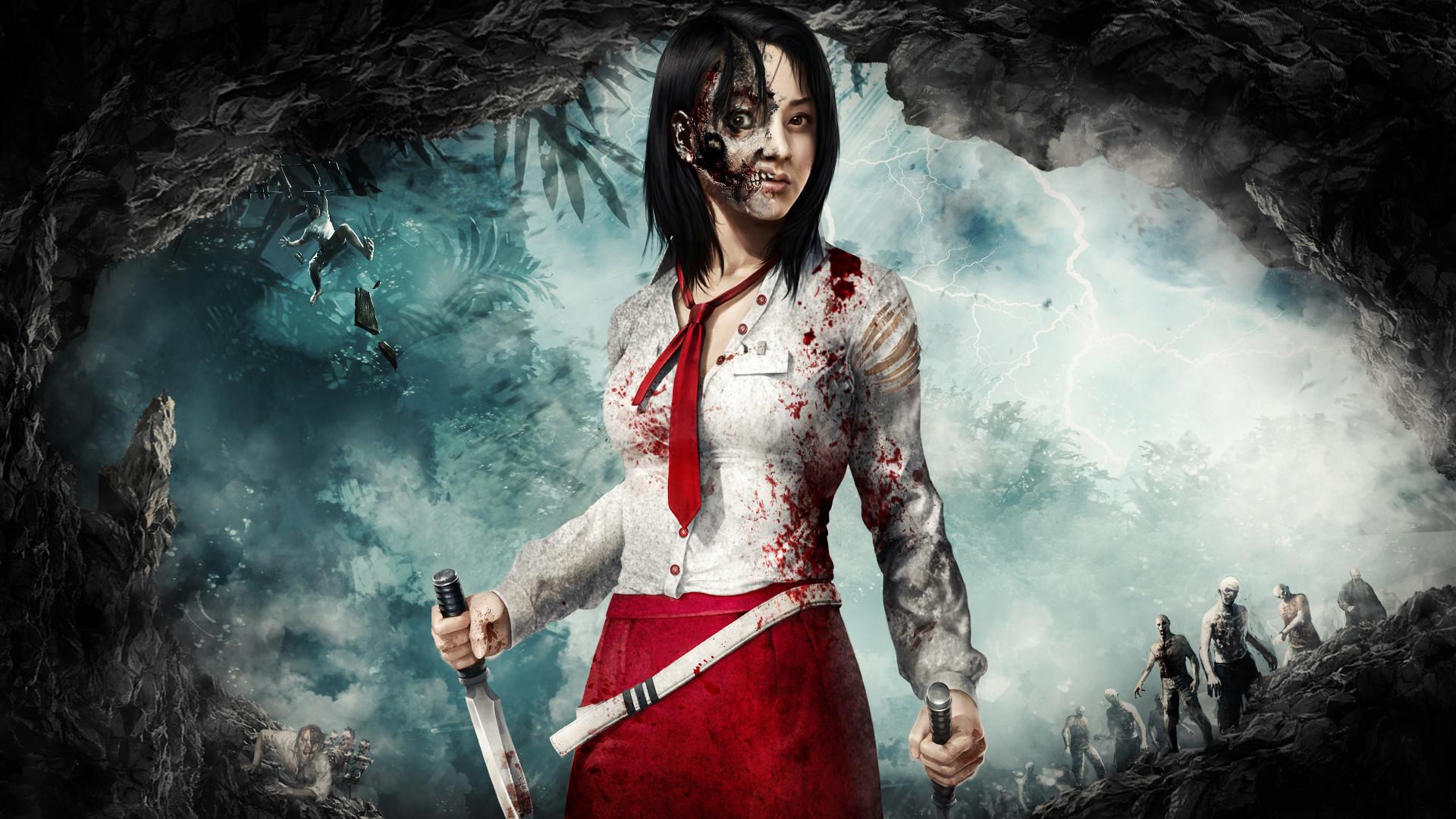 Zombie Girl Wallpaper