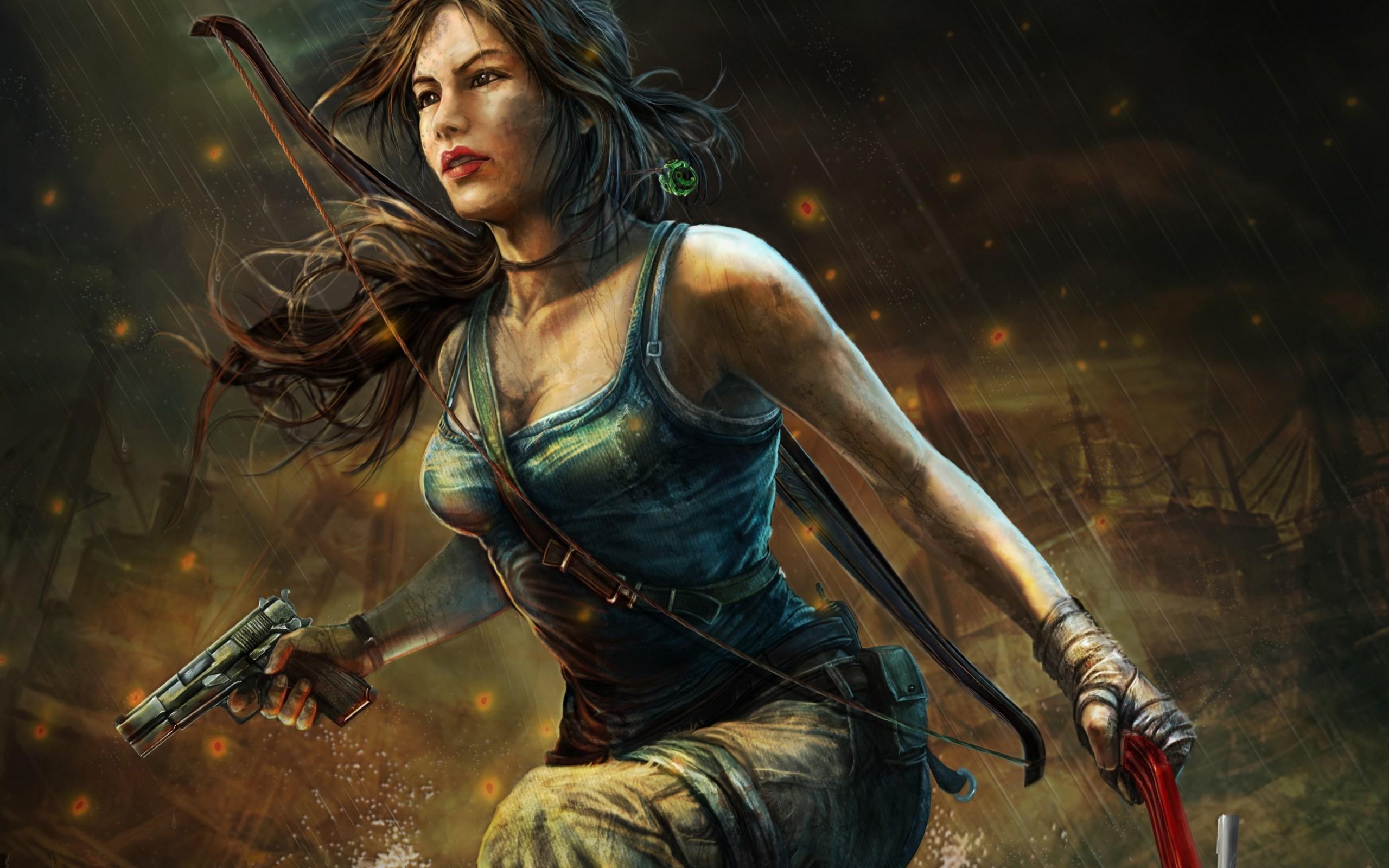 Tomb Raider Girl Game Art