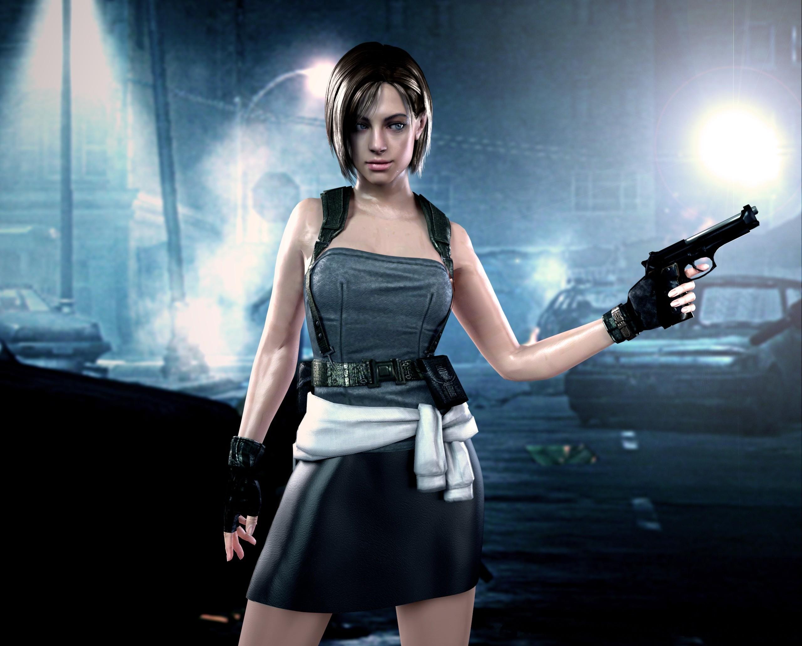 Resident Evil Pistols Warrior Dress Skirt Night Games Girls wallpaper      166622   WallpaperUP