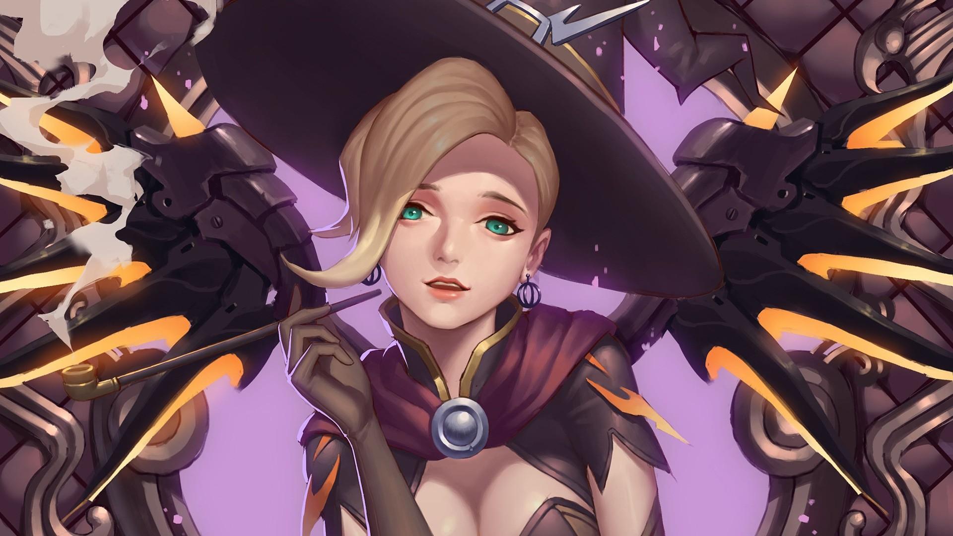 Witch Mercy Halloween Overwatch Girl