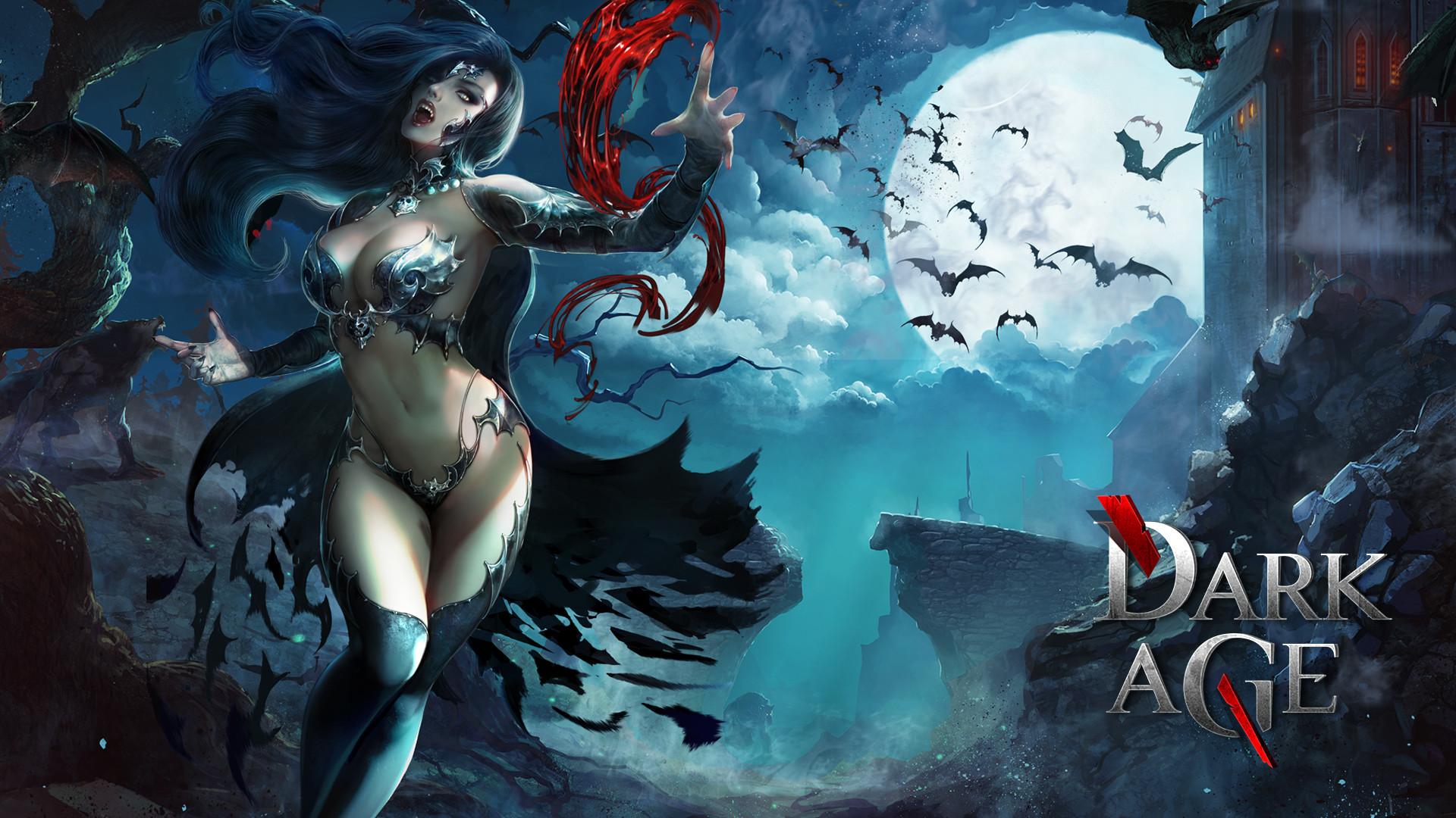 Vampire Dark Age ( Forsaken World ) Bats Moon Games Girls Fantasy wallpaper      175226   WallpaperUP