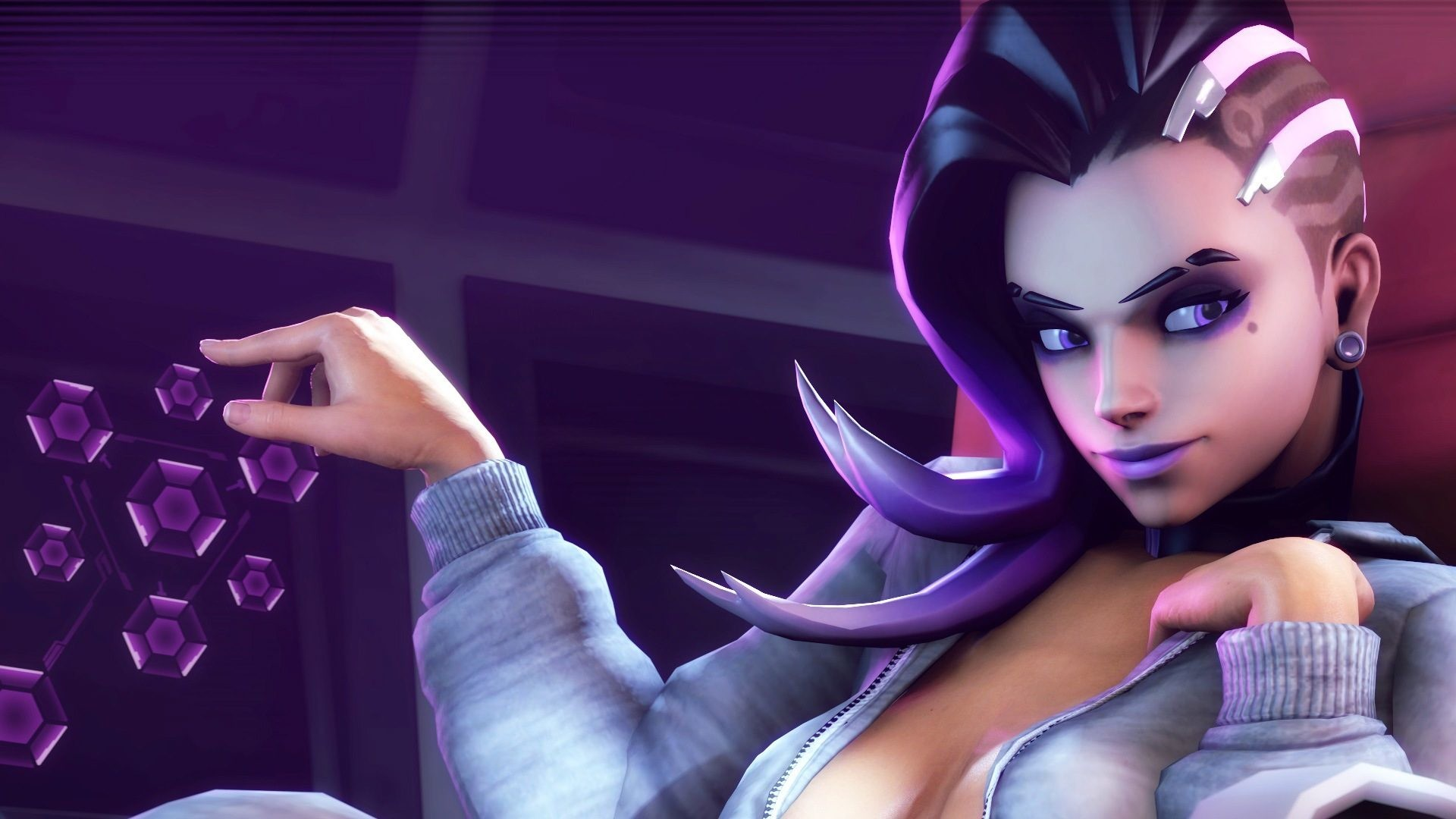 Sombra Sexy Gamegirl is a high definition desktop wallpaper from our  collection of free background images