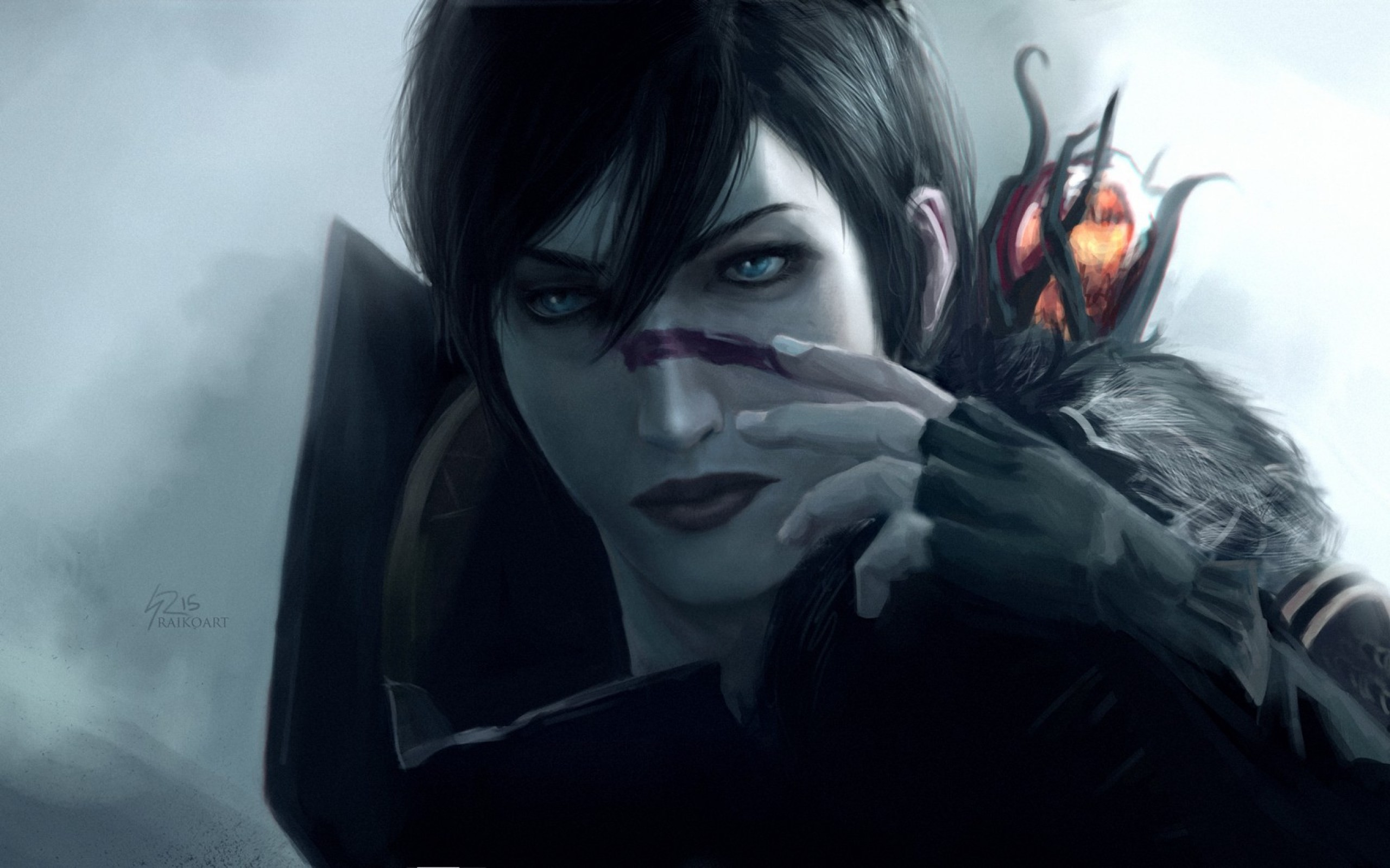 HD Background Dragon Age 2 Game Girl Character Art Staff Wallpaper    WallpapersByte