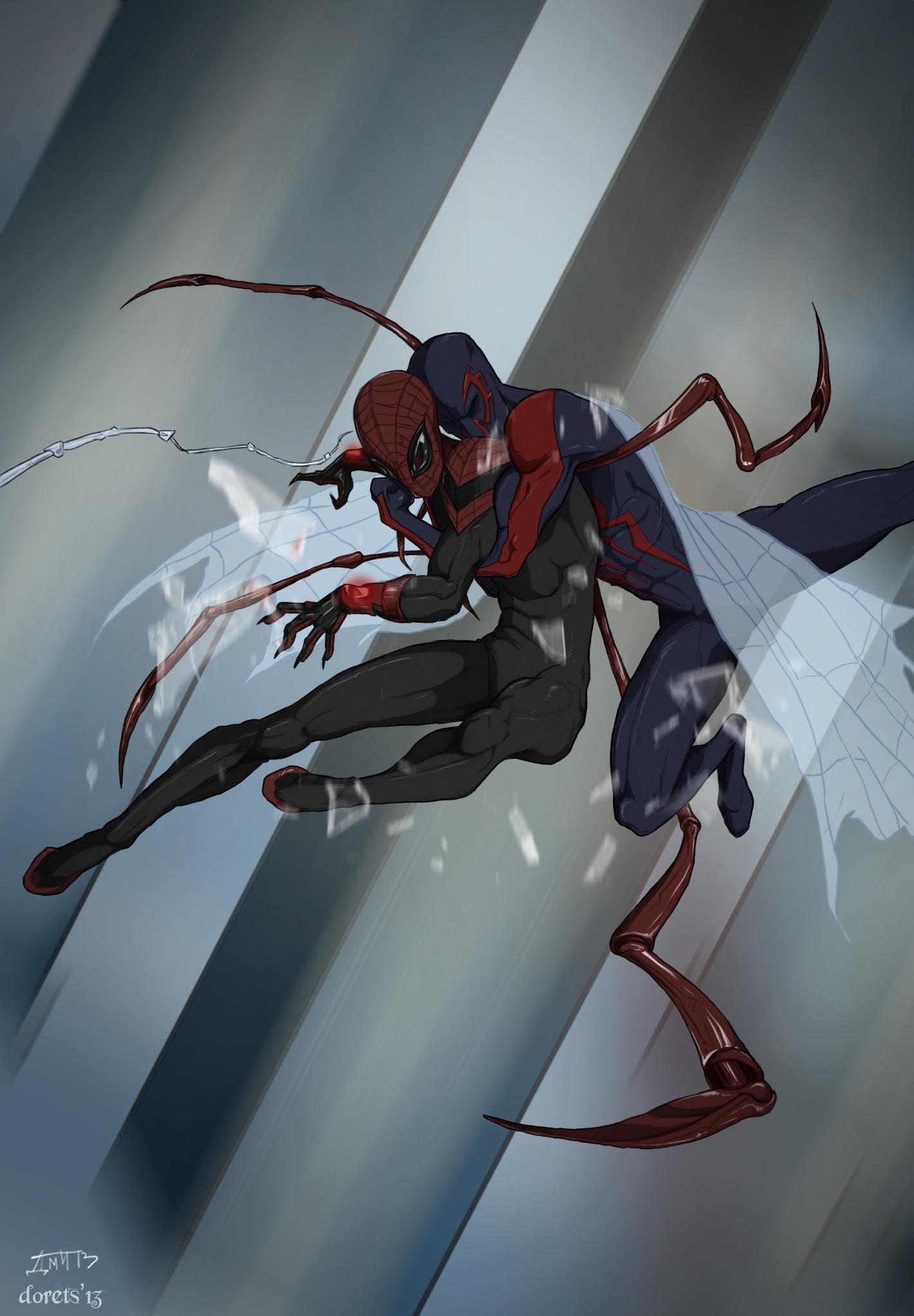 … Superior Spider-Man VS Spider-Man 2099 by deu-O