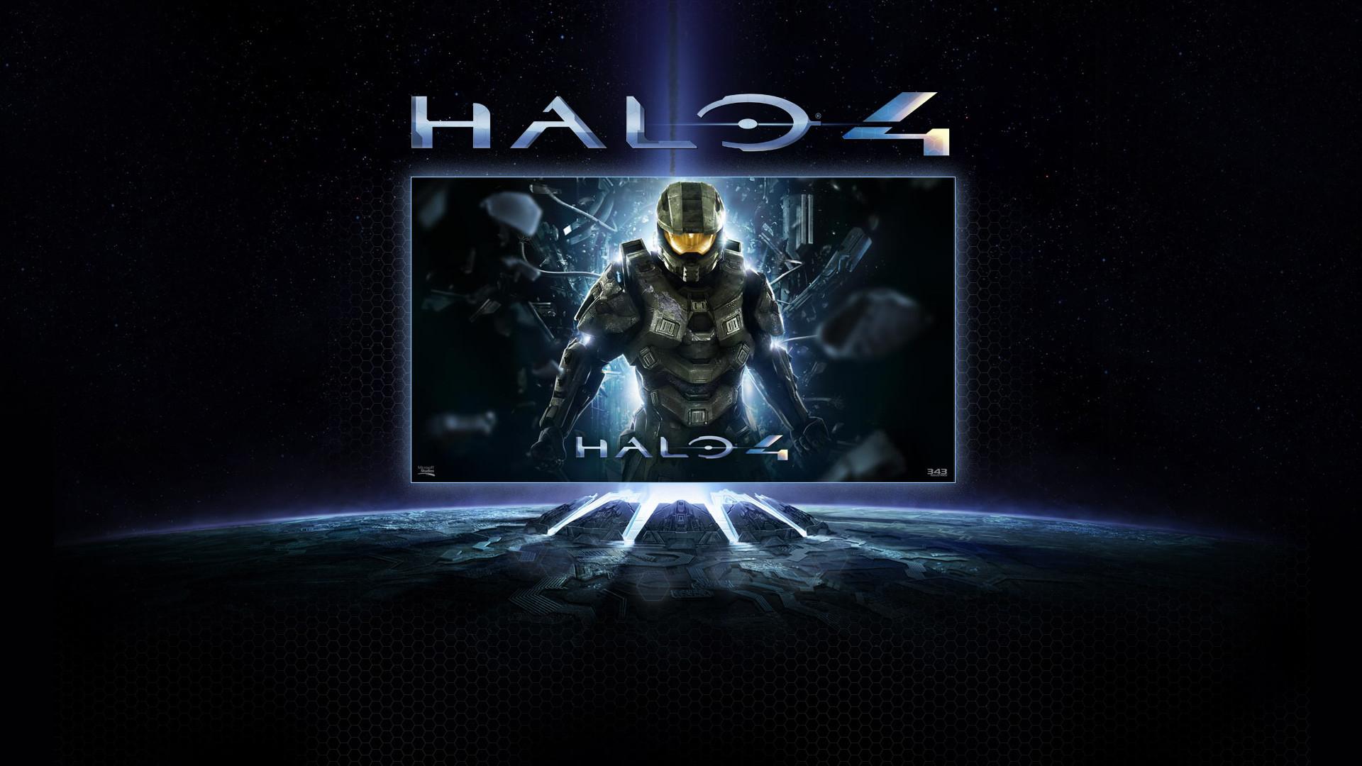 Halo 4 – Master Chief blue backdrop