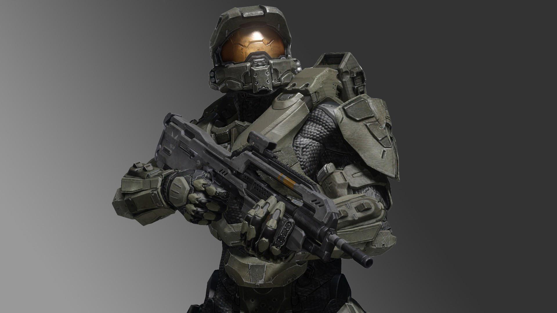Game Halo 4 Master Chief Battle Rifle Gradient Spartan Halo Wallpaper .