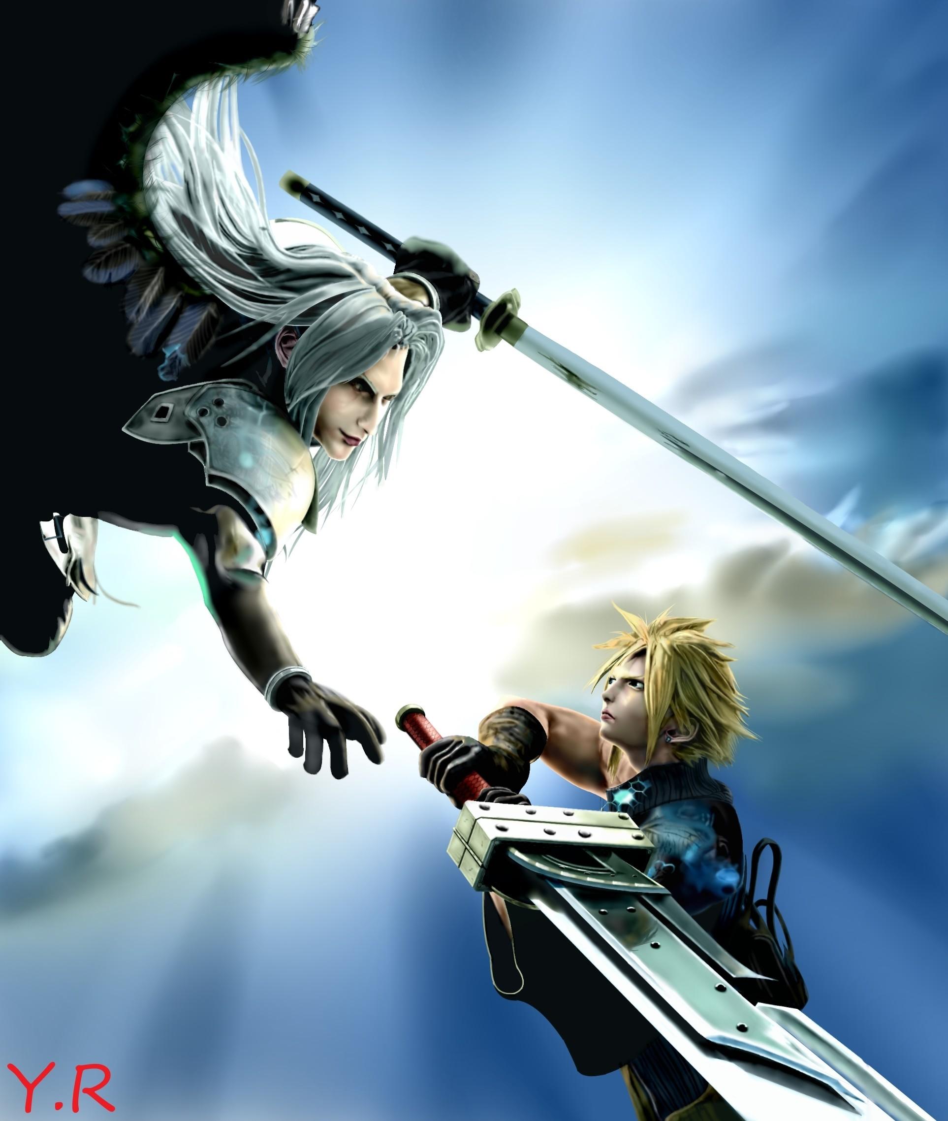 Cloud vs. Sephiroth by Yuuri – Final Fantasy VII Cloud / Sephiroth
