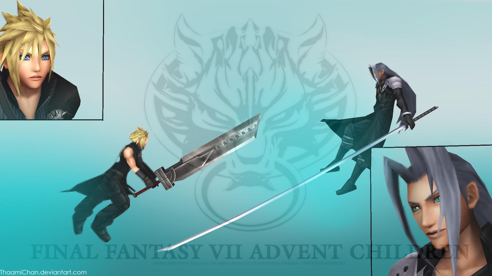 … FFVII Advent Children Cloud VS Sephiroth by ThaamiChan