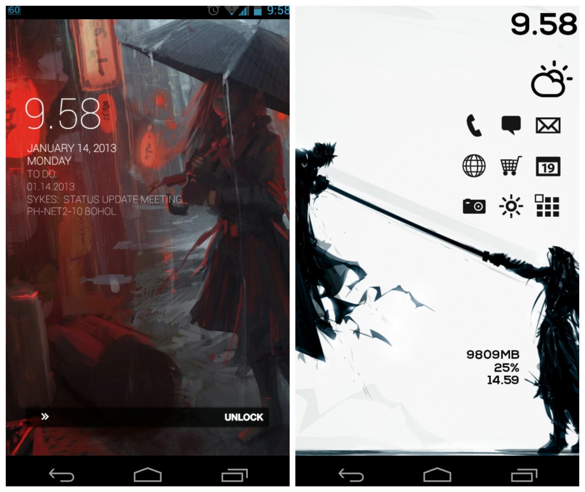 Cloud vs. Sephiroth Android Homescreen by jepoiski04 – MyColorscreen