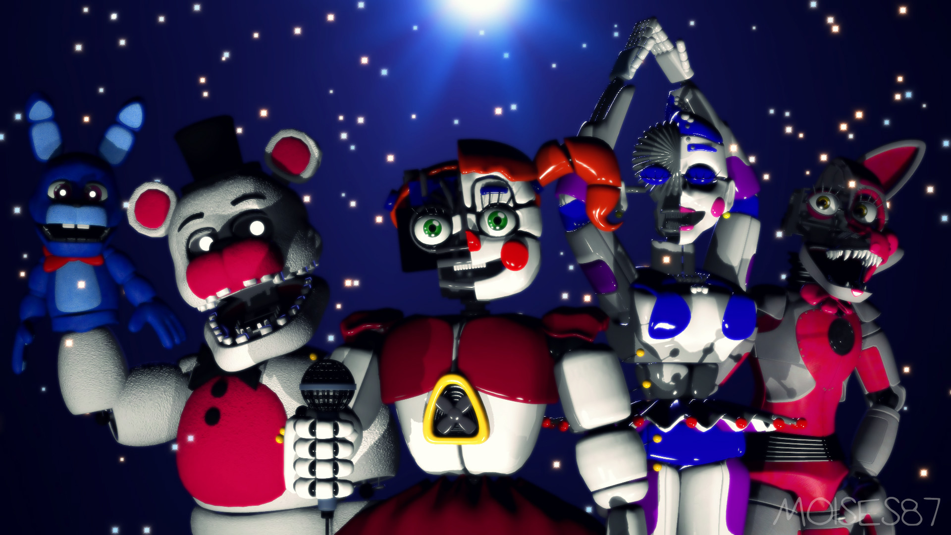 … In The Dark [FNaF Sister Location](Wallpaper 2) by Moises87