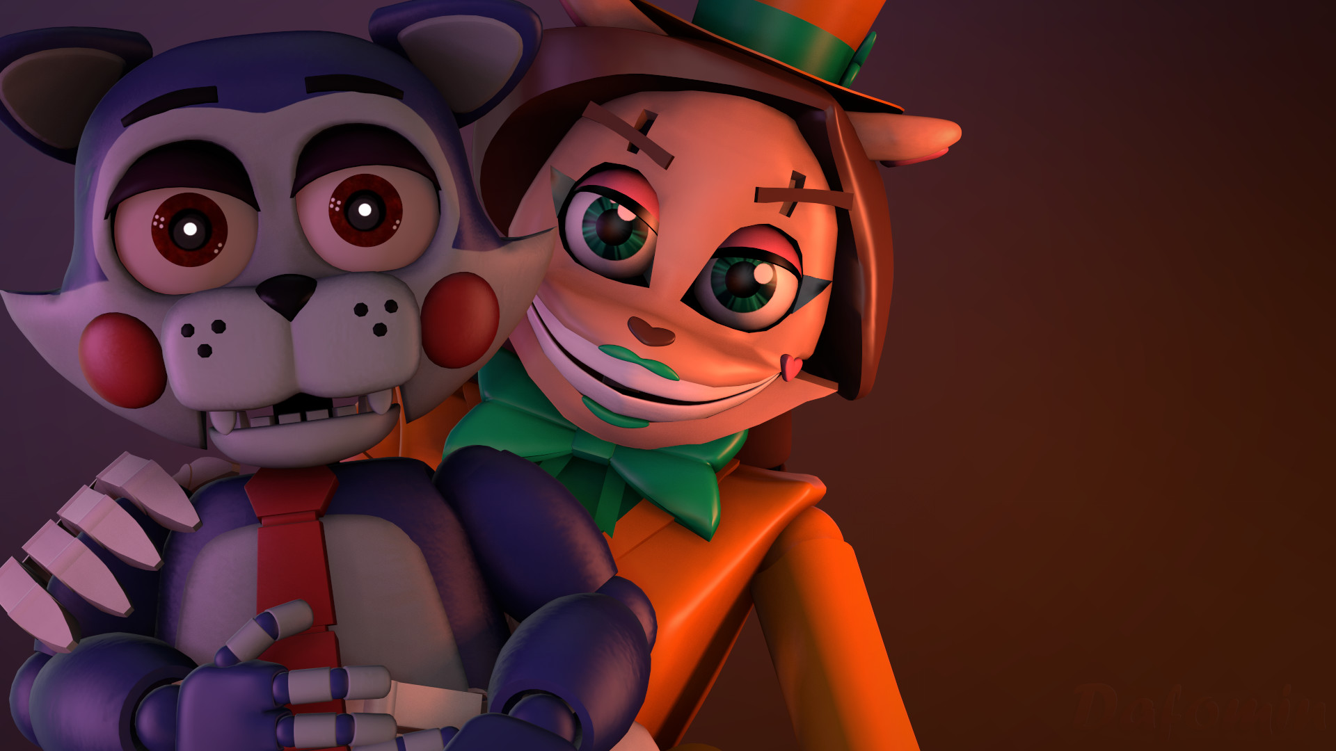 … [FNAF SFM]-Wallpaper Netty and adventure Candy by Dafomin