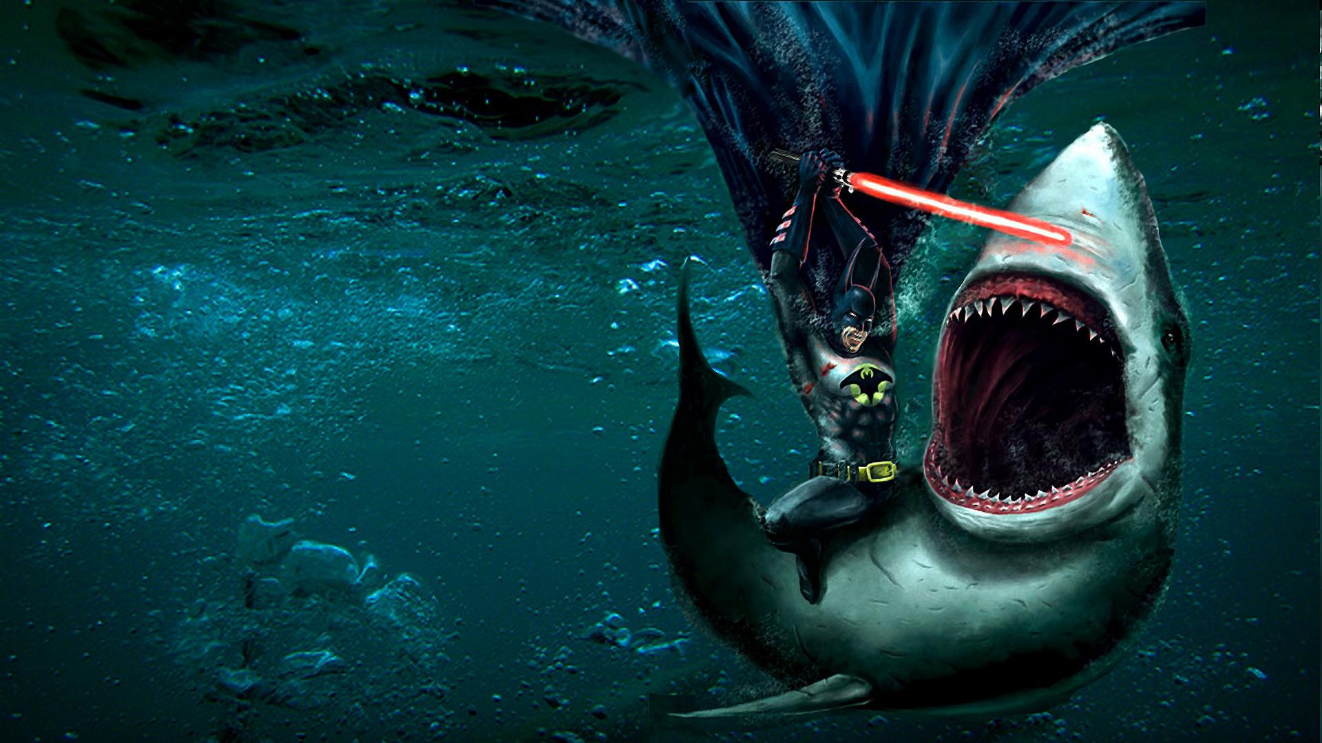 lightsabers Sharks Underwater HD Wallpaper   Unique HD Wallpapers .