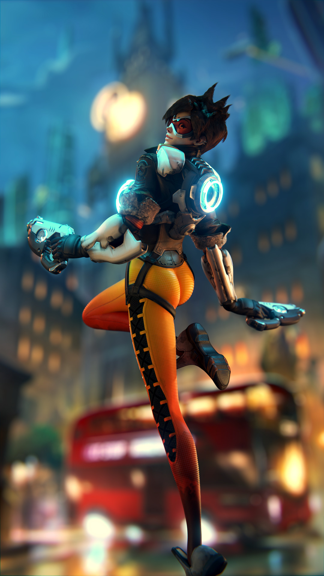 Tracer Artwork Overwatch Video Game Wallpaper Hd Image Picture