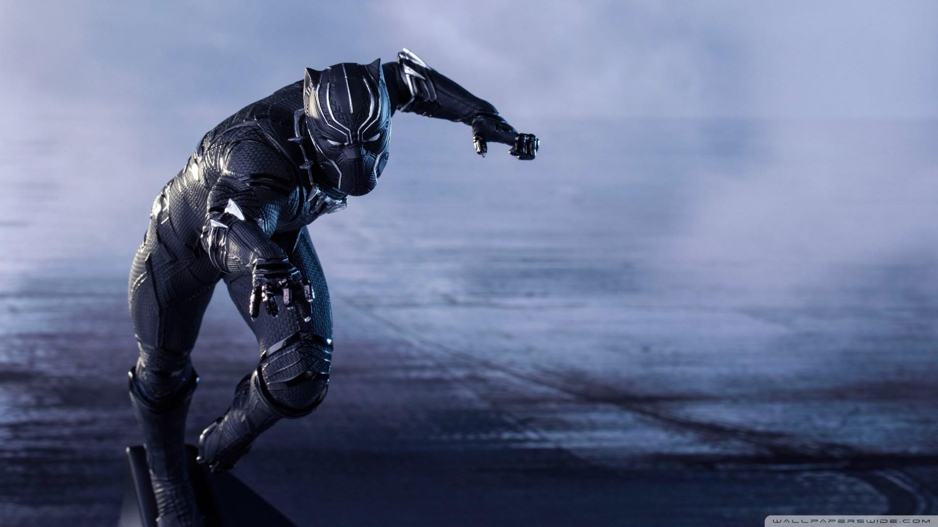 Captain America Civil War Black Panther Hd Desktop Wallpaper