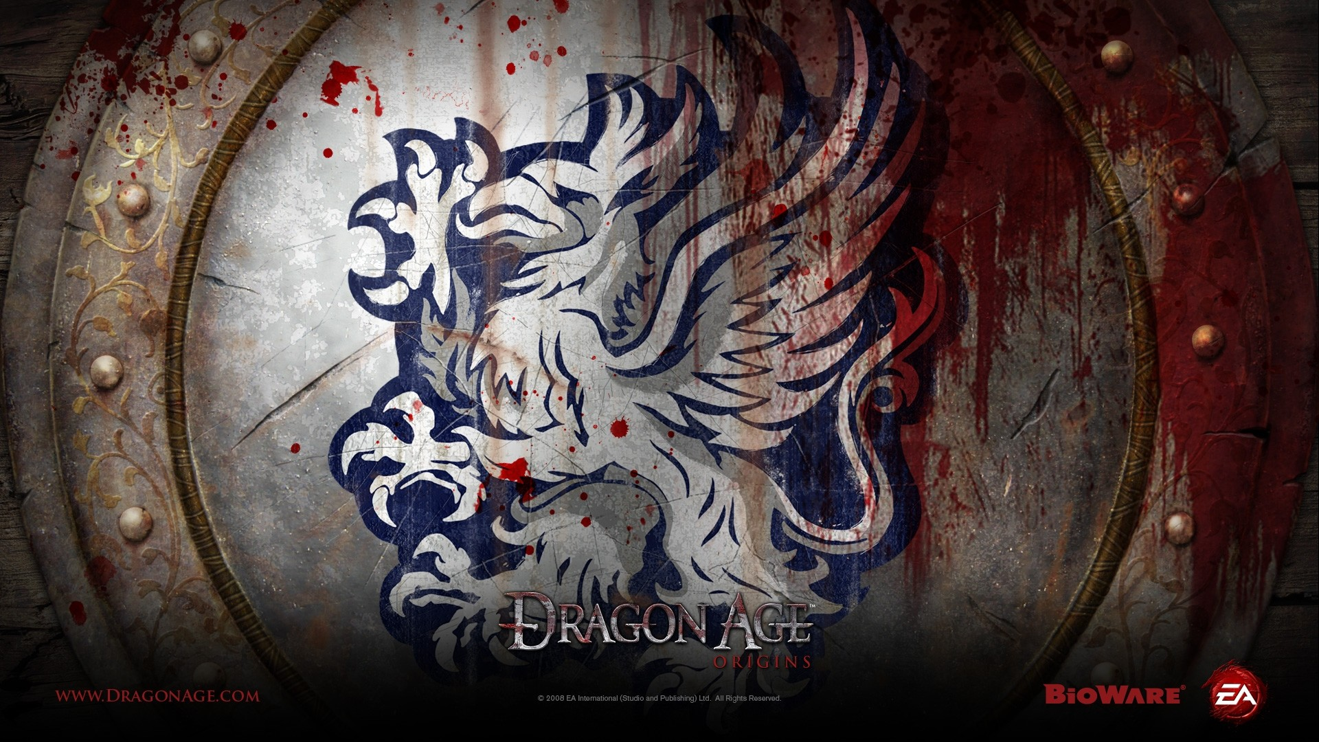 Preview wallpaper dragon age origins, dragon, picture, blood, wings  1920×1080