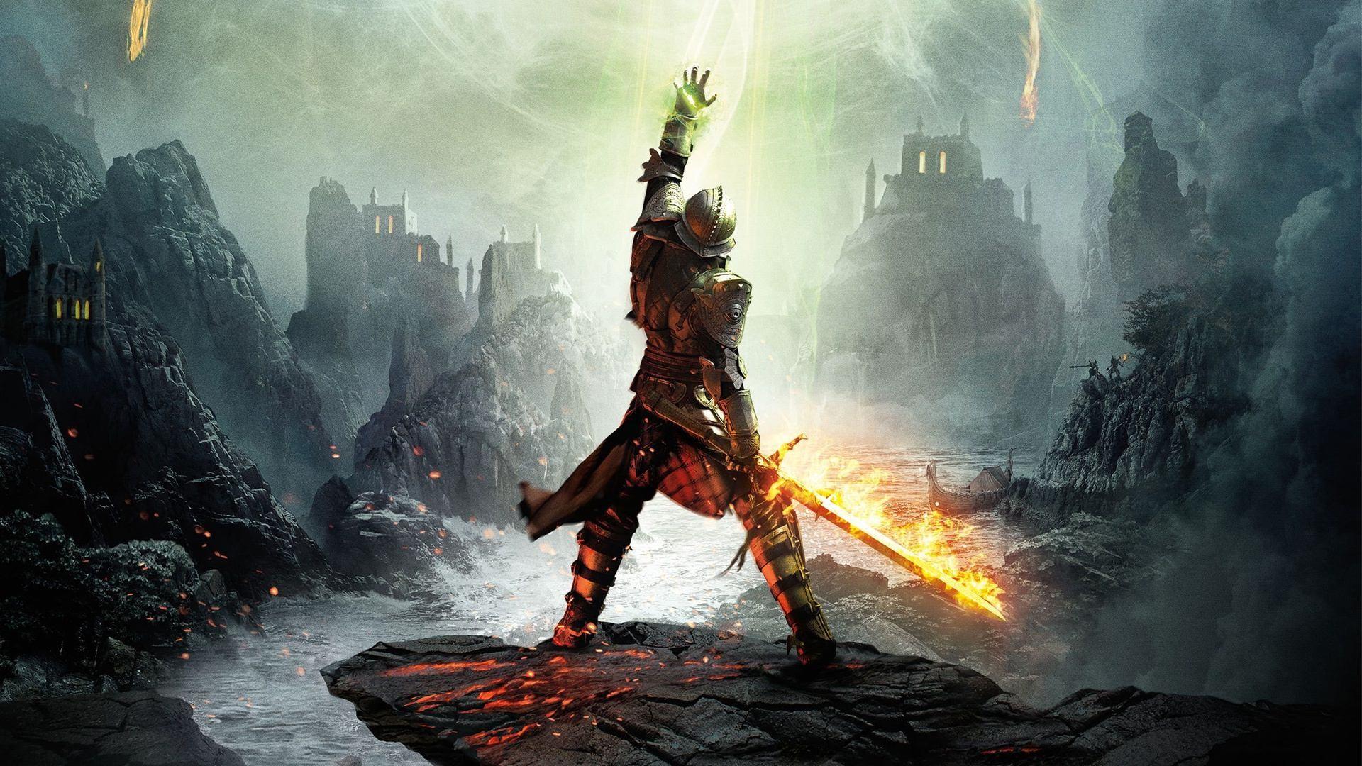 Wallpaper dragon age inquisition, warrior, dragon age, armor,  sword