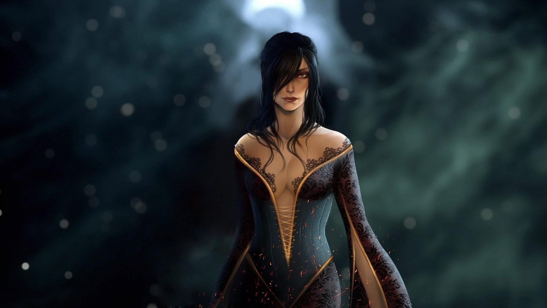 artwork, Fantasy Art, Morrigan (character), Dragon Age: Inquisition, Women,  Long Hair Wallpapers HD / Desktop and Mobile Backgrounds