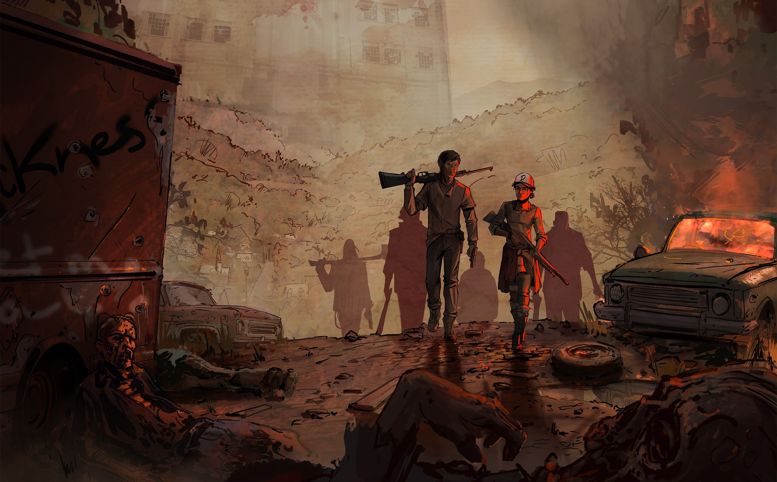 31 The Walking Dead: A New Frontier HD Wallpapers   Backgrounds – Wallpaper  Abyss
