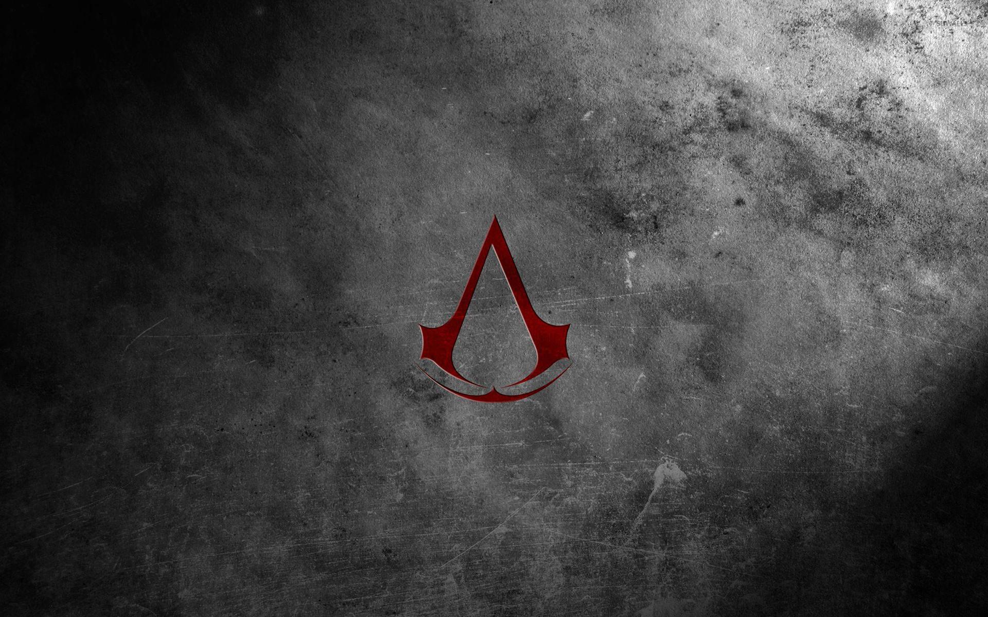 Red Assassin's Creed logo wallpaper