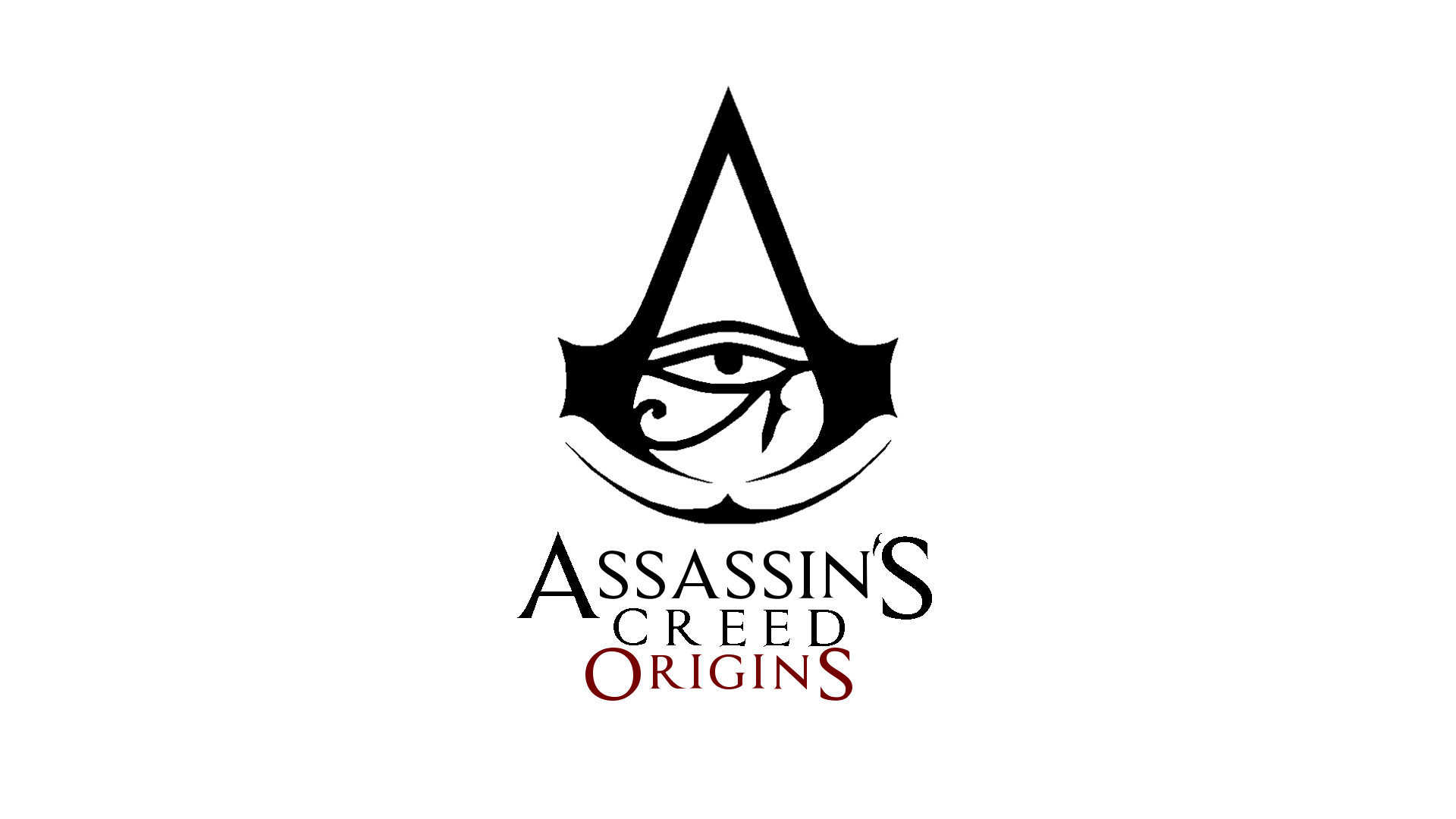 assassins creed origins logo wallpaper 4k