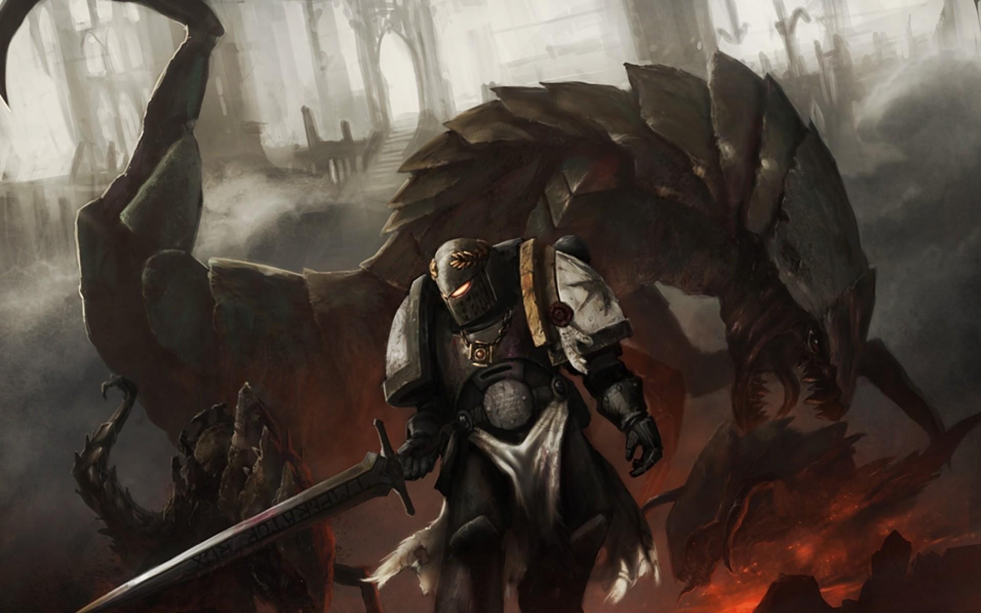 Image – Warhammer 40k space marine artwork tyranids black templar 1125×812 wallpaper  Wallpaper www.wallmay.net.jpg | Warhammer 40k | FANDOM …