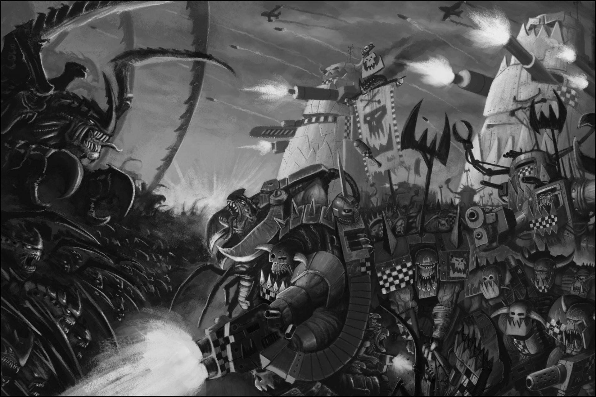 warhammer 40000 orcs orks tyranids tyranids