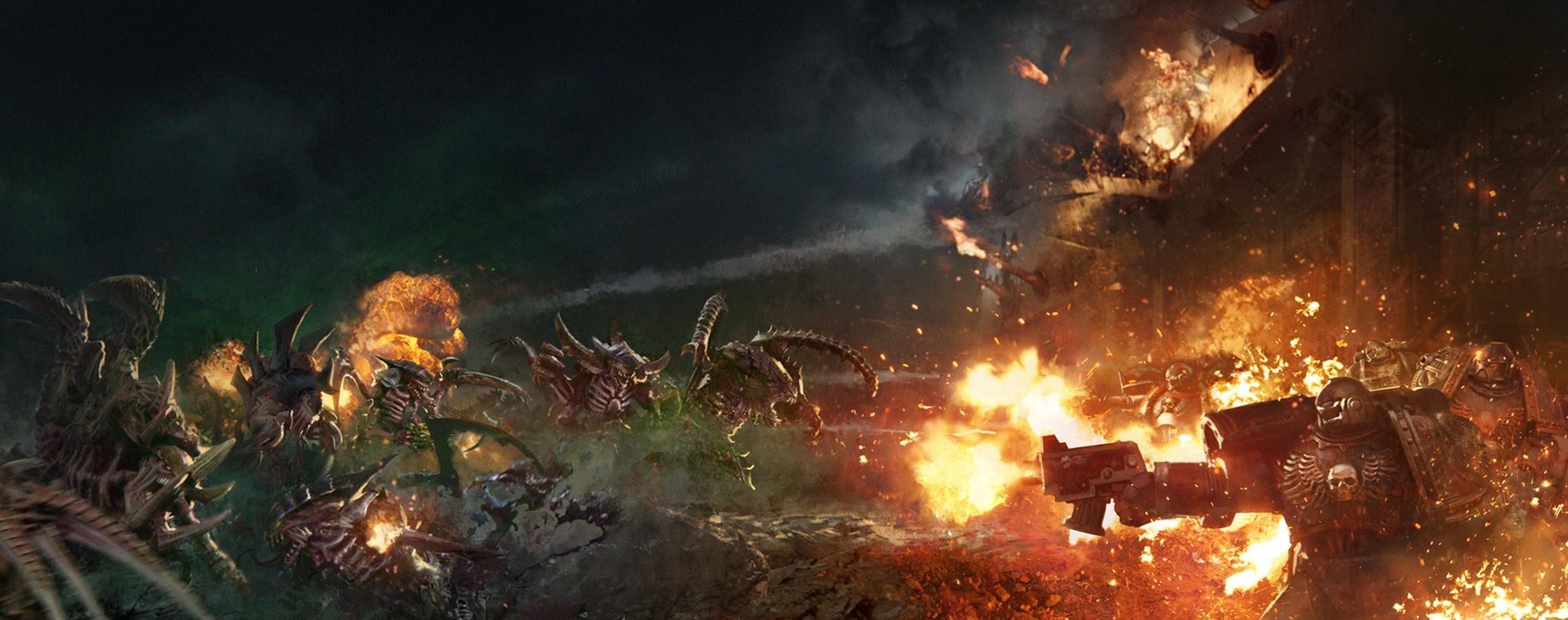 tyranids warhammer 40k warhammer 40.000 warhammer alien flesh tearers  shield of baal: exterminatus war
