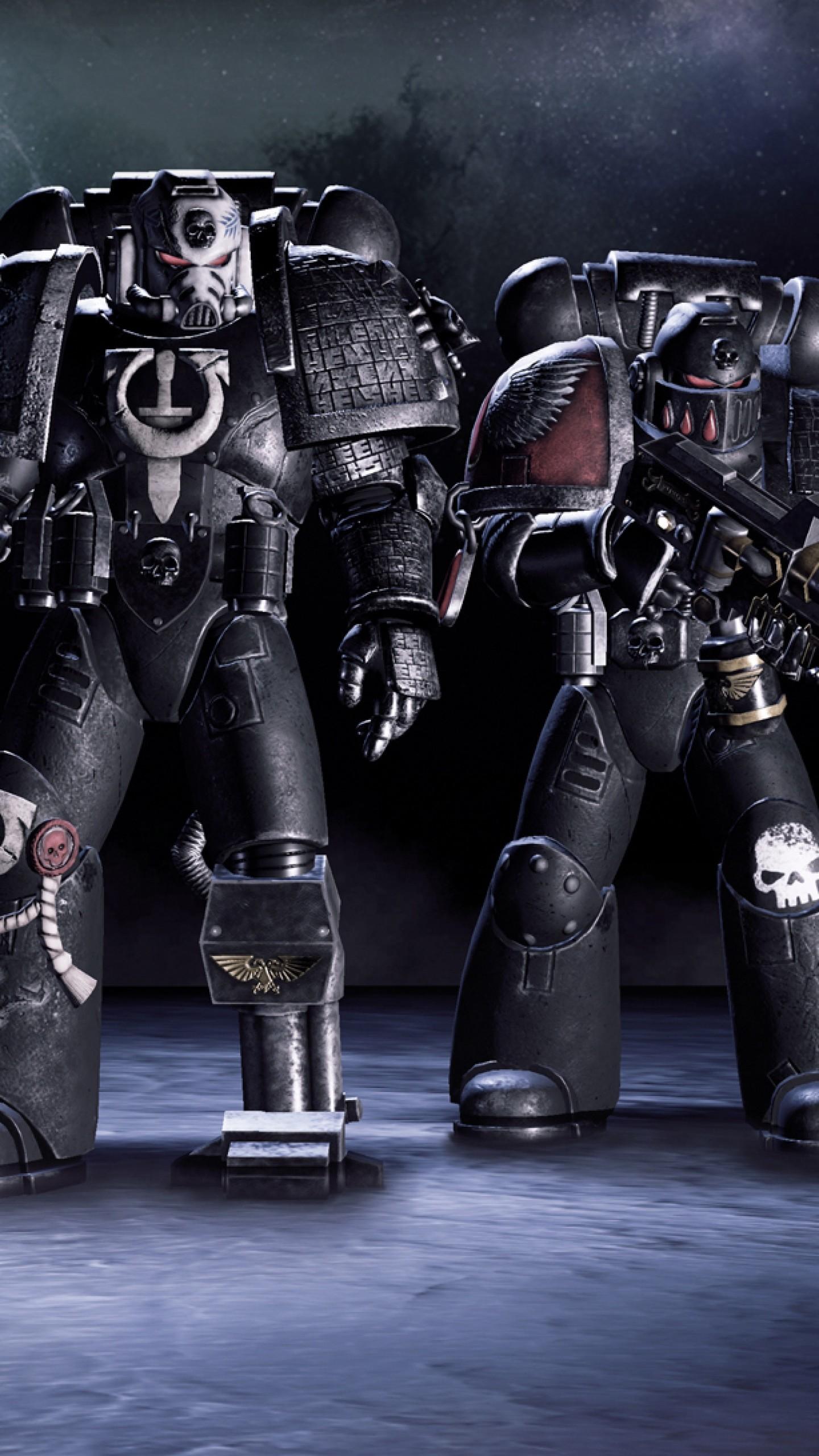 Wallpaper warhammer 40k, deathwatch, tyranid invasion, soldiers,  armor, weapons