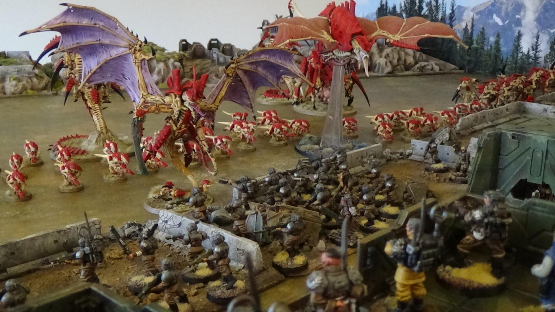 Warhammer 40K Battle Report Tyranids vs Astra Militarum The Blood of Martyrs