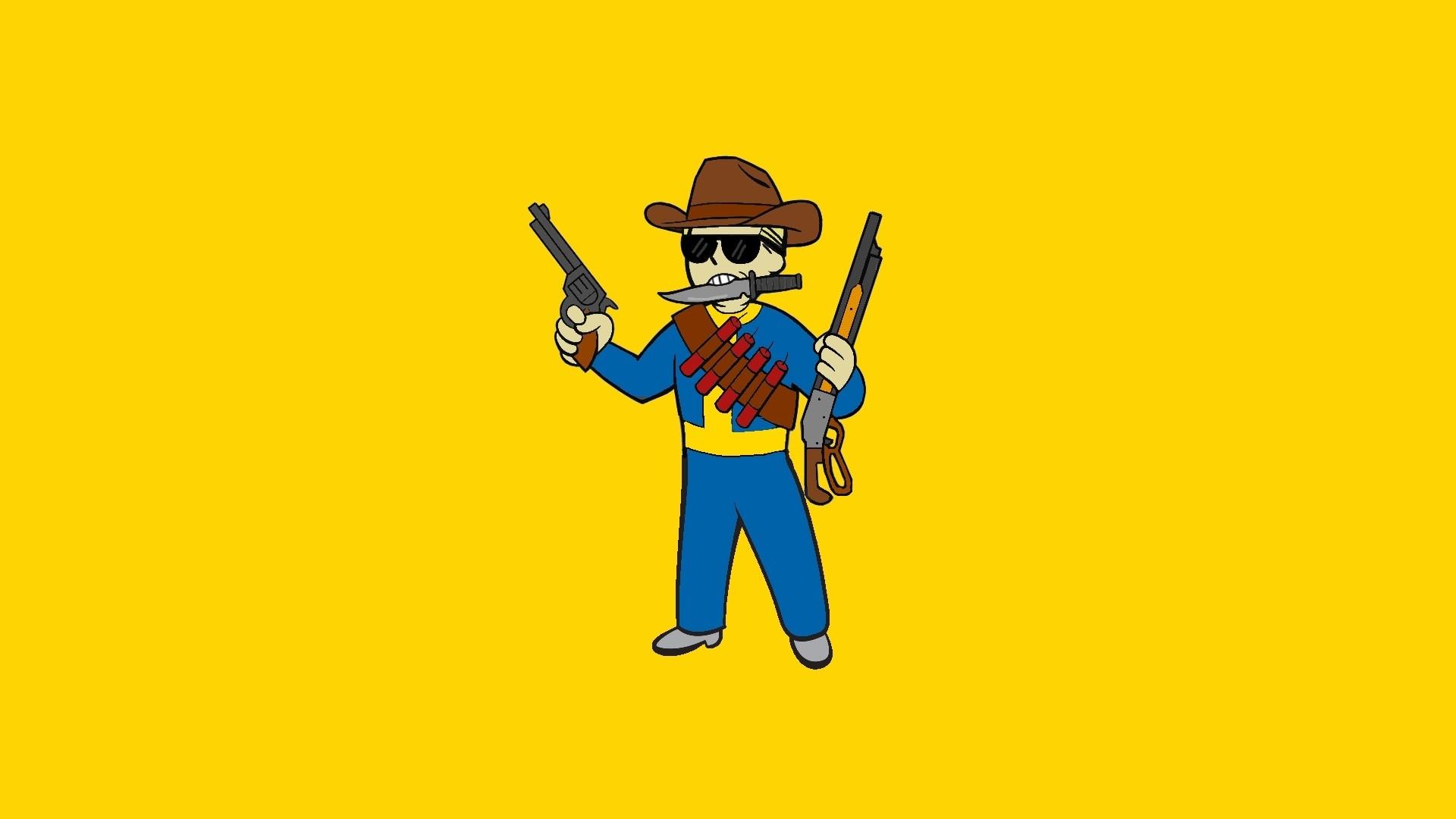 Vault Boy Cowboy Perk wallpaper (1920×1080) [I'll make colour adjustments  if requested… probably] …